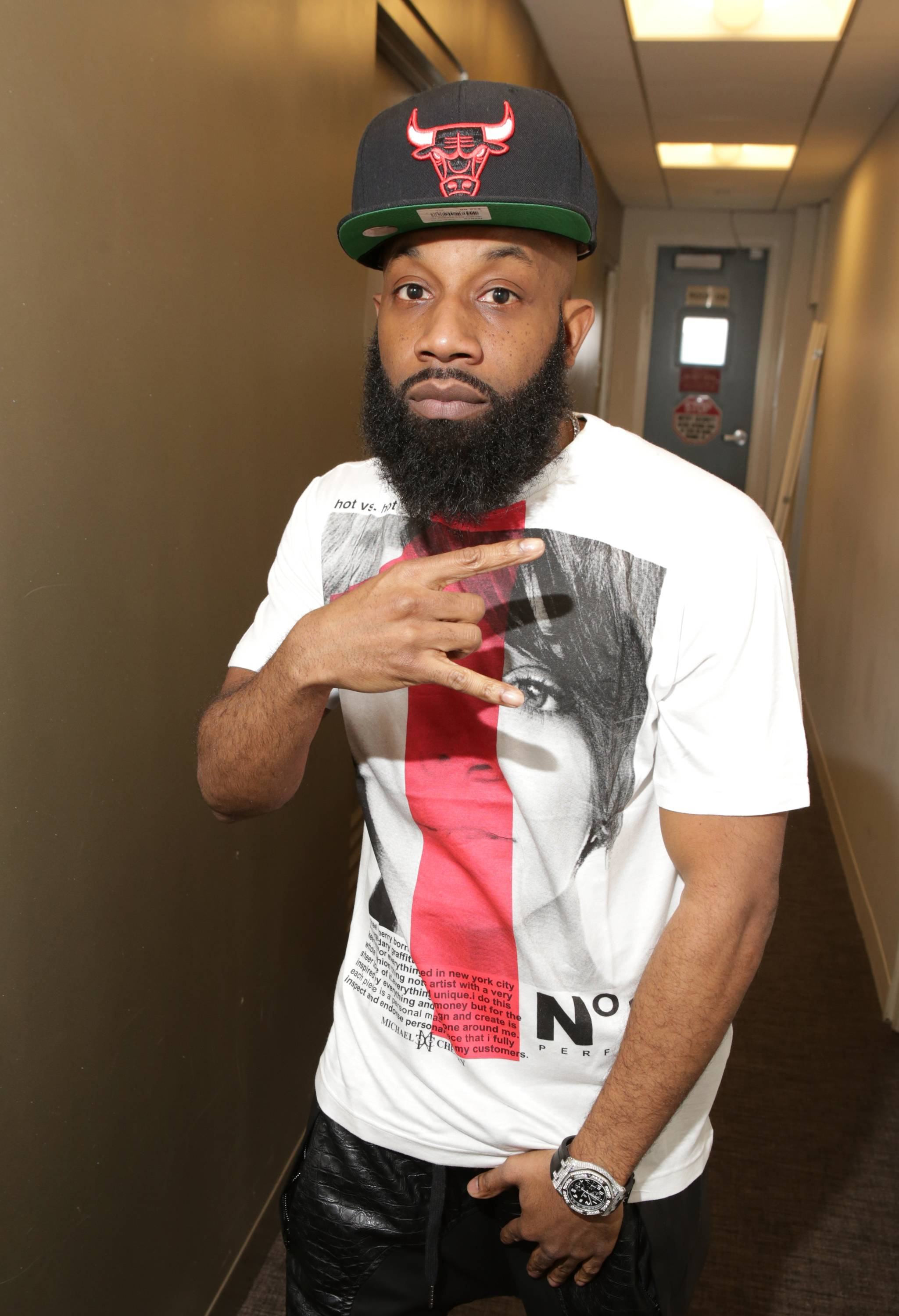 """Smack - September 26, 2014 - Ultimate Rap League's (URL) head honcho was in the builing to talk about URL's most grand event - """"SM4."""" Watch a clip now!  (Photo: Bennett Raglin/BET/Getty Images)"""
