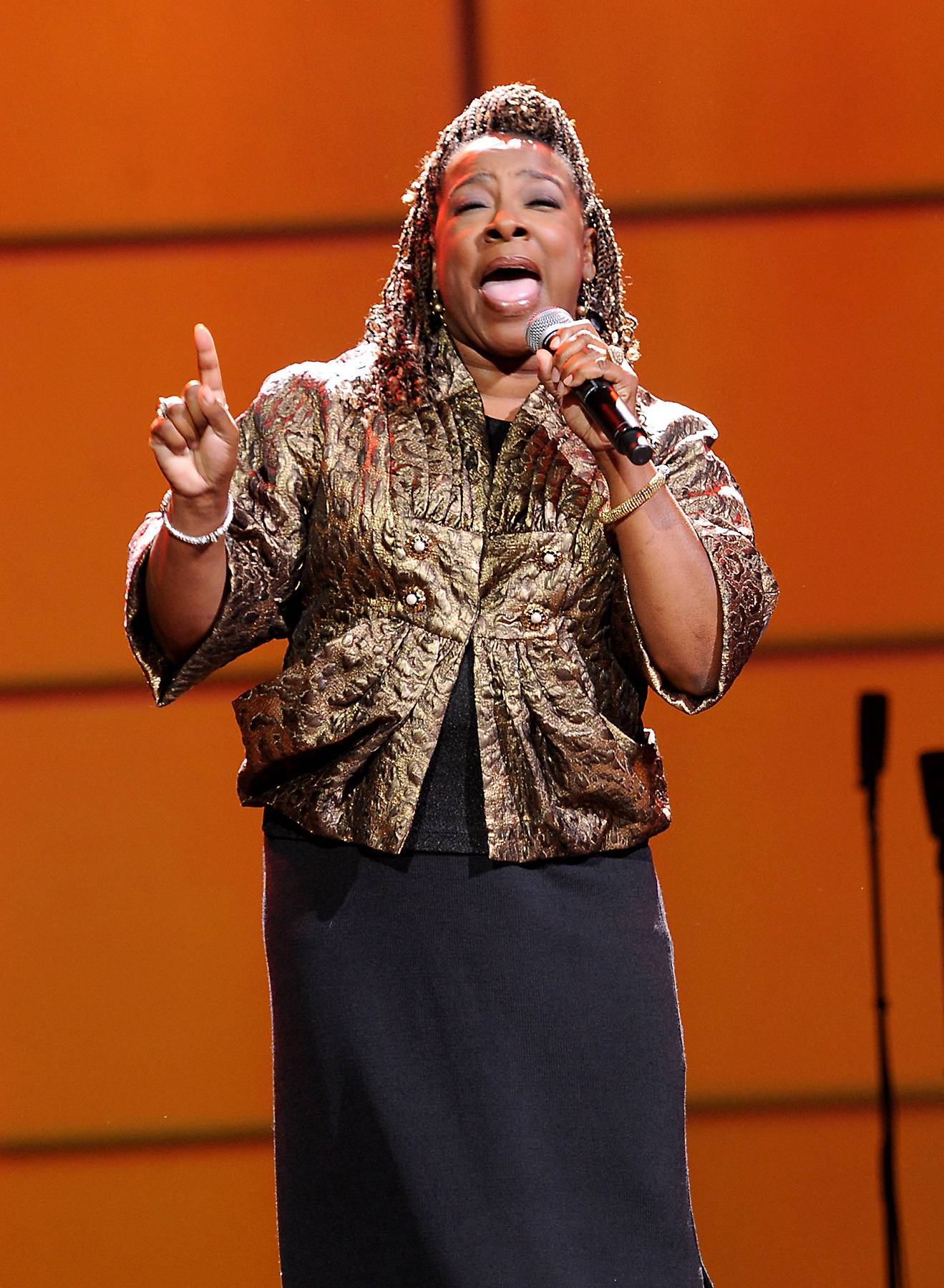 Beverly Crawford - She's a gospel favorite and best known for her vocals on Bobby Jones Gospel. Pastor Beverly Crawford continues to let God use her as vessel for His work. (Photo: Rick Diamond/Getty Images for Verizon)