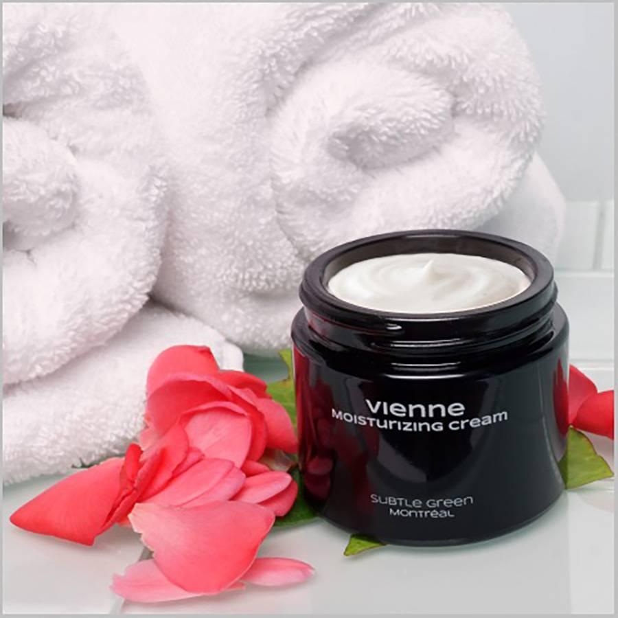 Subtle Green Vienne Intense Hydration Cream - $53.95 - This deeply conditioning cream infused with lush botanicals helps retain your skin?s natural moisture to restore optimal suppleness. If your skin feels dehydrated and you?re starting to see some crows feet, fine lines, flakiness, or itching, try this made fresh to order, deep hydration cream.(Photo: Courtesy of www.subtlegreen.com)