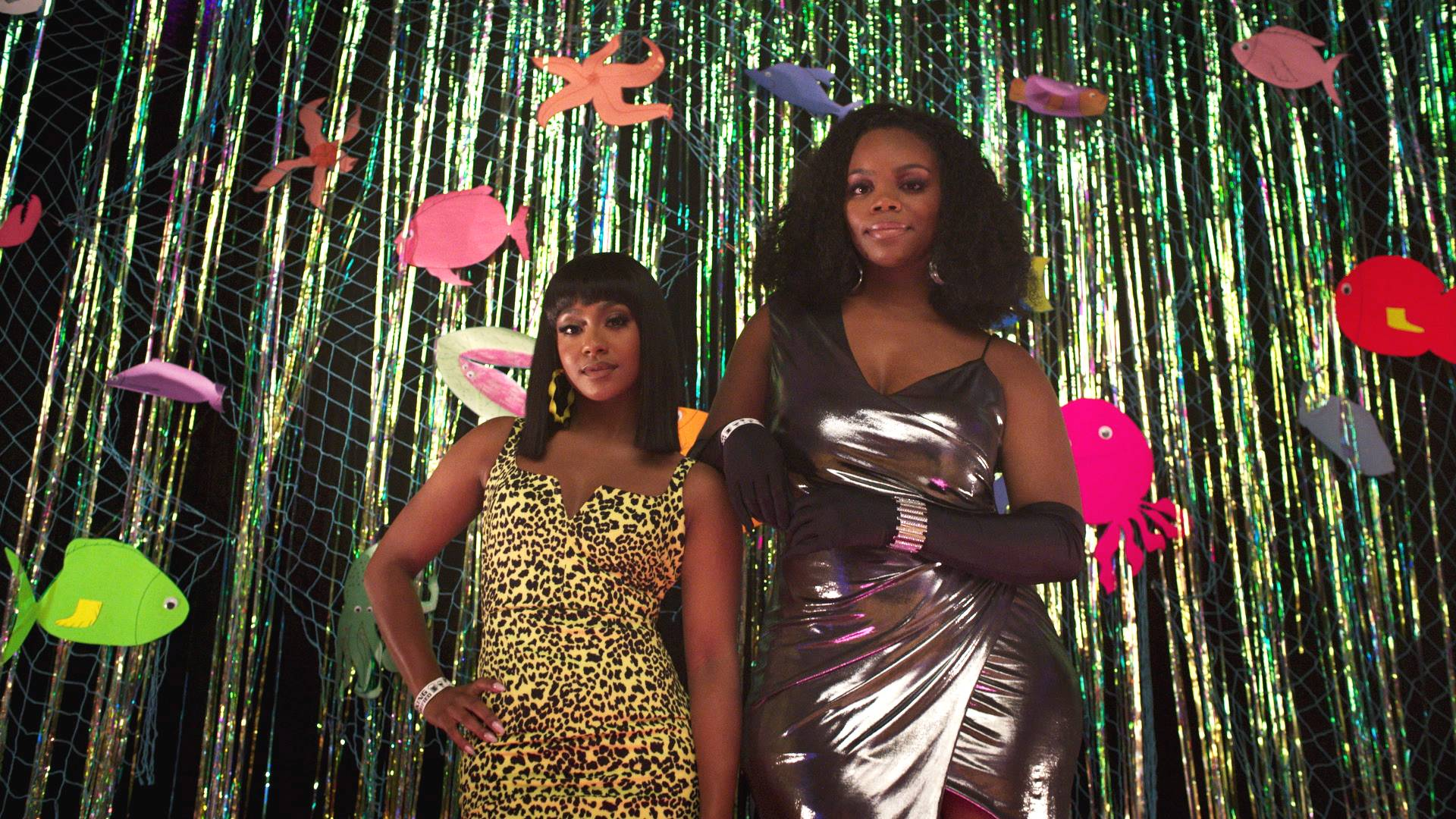 Tetona Jackson and Brittany Inge show off their outfits. - (Photo: BET)