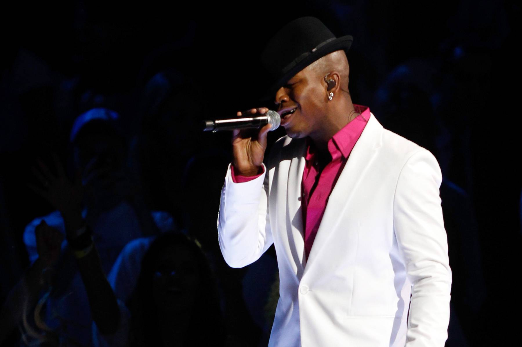 In the Spotlight - Recording artist Ne-Yo lights up the stage during halftime.(Photo: Mike Ehrmann/Getty Images)