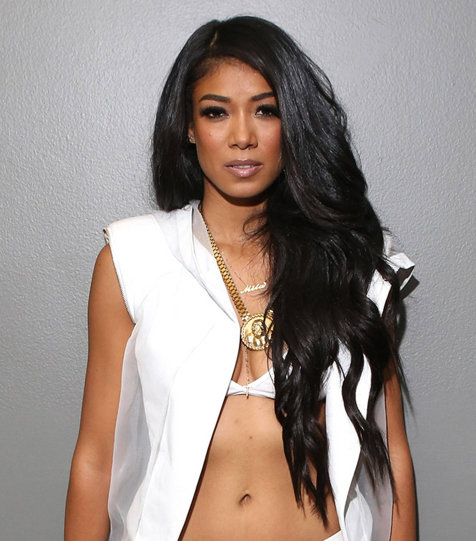 """Mila J - Stepember 8, 2014 - You've seen her cut a rug in her video for """"Smoke, Drink, Break-Up."""" The talented singer helped judge the U.D.L. competition battle. Watch a clip now!  (Photo: Bennett Raglin/BET/Getty Images for BET)"""