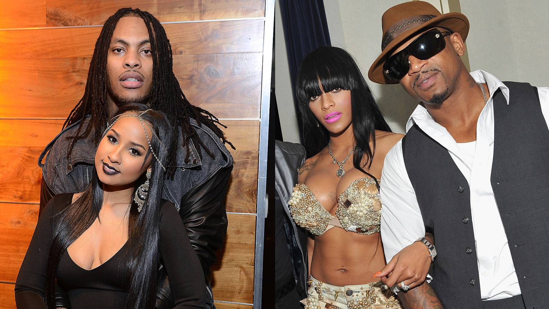 """Waka and Tammy Stir the Pot - Waka Flocka and Tammy Rivera are instigating more drama with Stevie J and Joseline Hernandez via social media. Tammy posted a photo on her Instagram featuring Waka Flocka pointing a gun at the camera. The caption read: """"Daddy's home #meettheflockas love and hip-hop.""""If you recall, Waka Flocka was not at the taping of the Love and Hip-Hop Atlanta reunion where Tammy was attacked by Joseline Hernandez. Tammy's mother-in-law Deb said that Waka's absence was a good thing because he'd obviously have a problem with what went down. Based on that Instagram post, which Tammy has since deleted (but not before the Internets got a screengrab), it's obvious this beef will still be brewing if they return for another season. It's sad to say this but we hope everyone returns with the proper under armor...catch our drift? (Photos from left: Paras Griff..."""