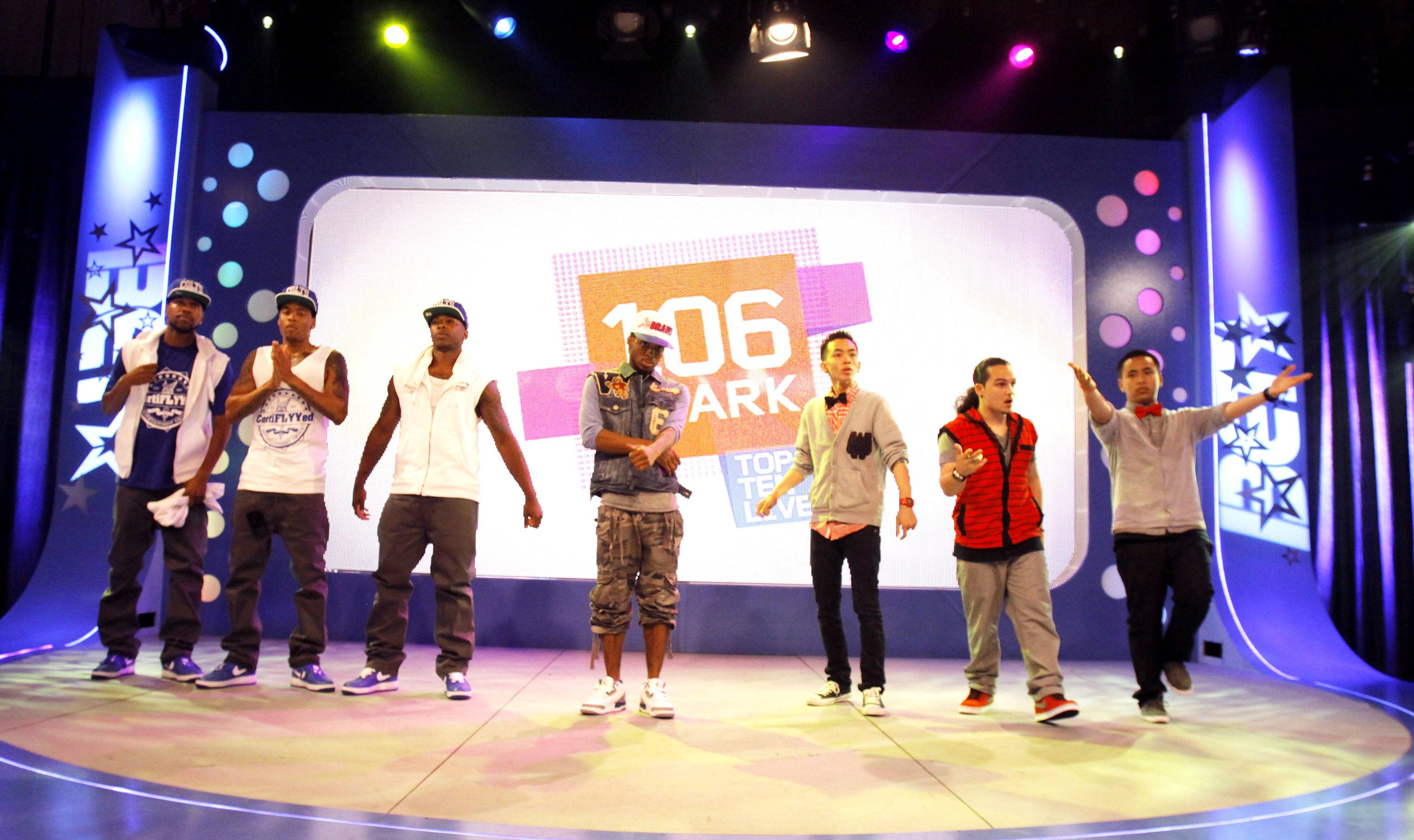 The Contestants - The Male Hip-Hop contestants stepped up to battle!(Photo by Ernest Estim?)