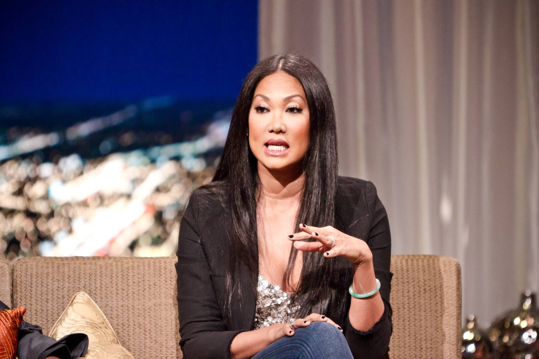 Bountiful Difference - One of Kimora's latest ventures was the Make a Clean Difference Campaign, a viral campaign in conjunction with Bounty in which Kimora chooses which school will receive a $50,000 makeover.(Photo: Darnell Williams/BET)