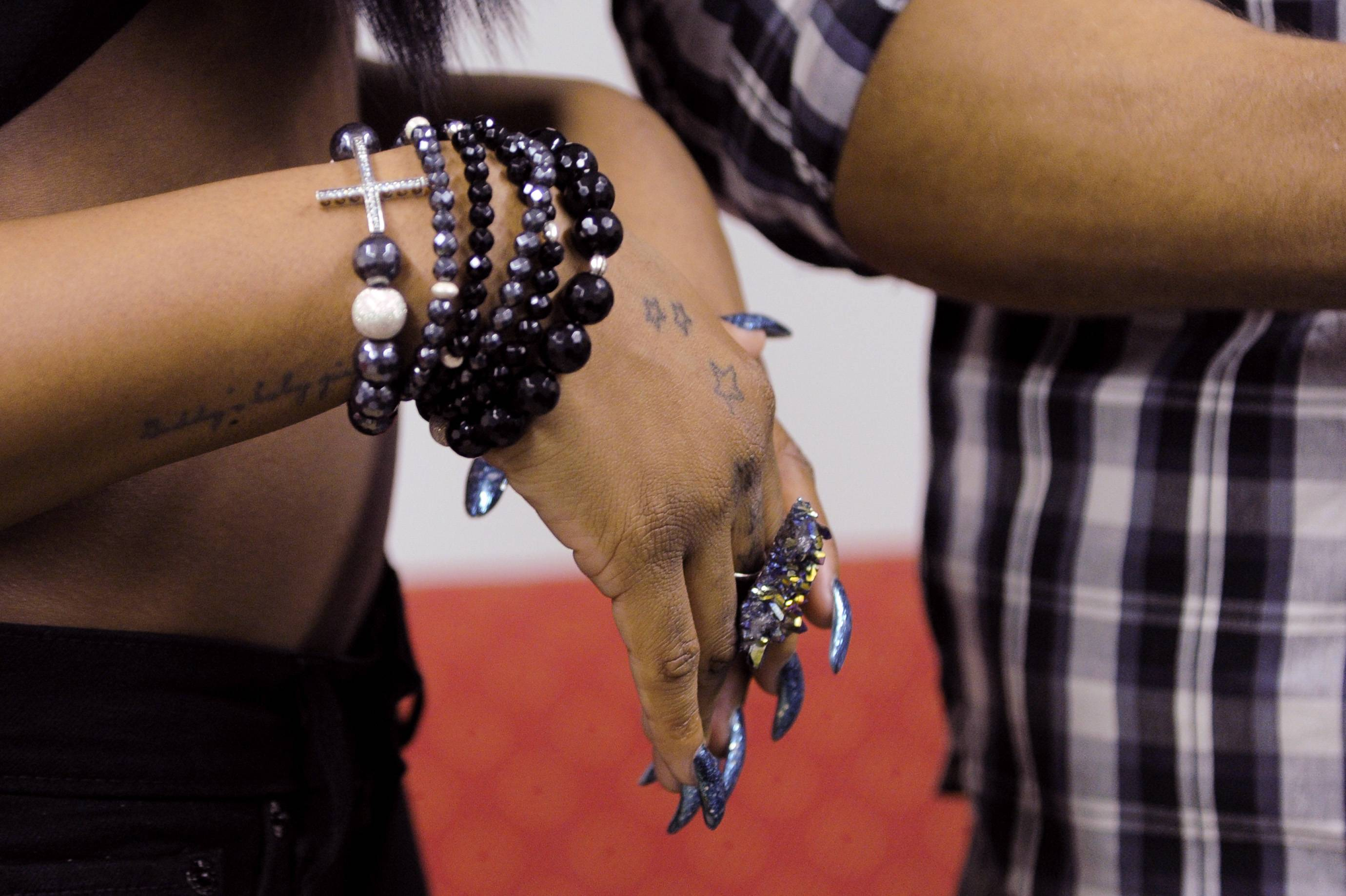 Check That Out - Dawn Richard in the green room at 106 & Park, January 05, 2012.(Photo: John Ricard/BET)