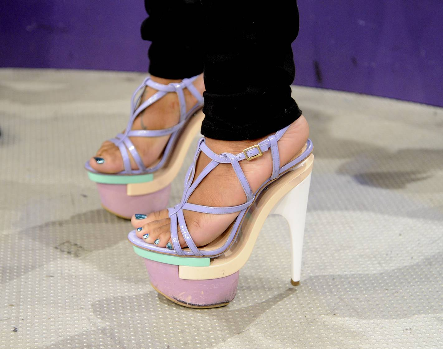 Nice Shoes - Dawn Richard at 106 & Park, January 05, 2012. (Photo: John Ricard/BET)