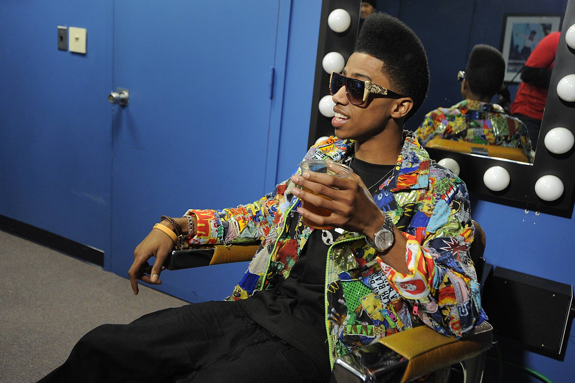 Hey There - Lil Twist in the green room at 106 & Park, January 05, 2012.(Photo: John Ricard/BET)