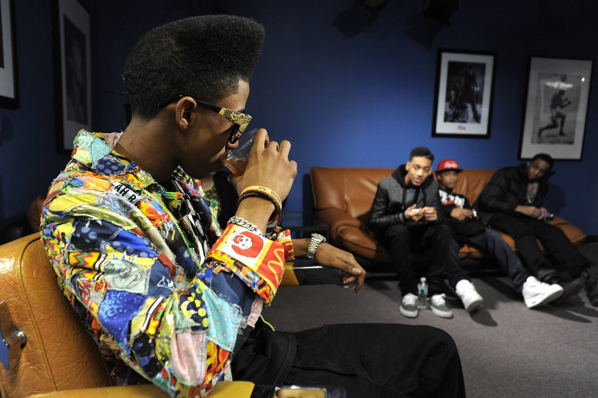 It's Good - Lil Twist in the green room at 106 & Park, January 05, 2012.(Photo: John Ricard/BET)