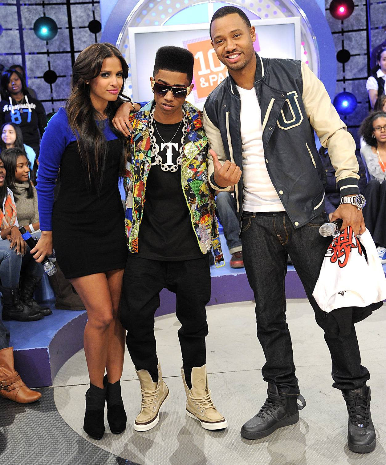 Take That - Lil Twist with Terrence J and Rocsi Diaz at 106 & Park, January 05, 2012.(Photo: John Ricard/BET)