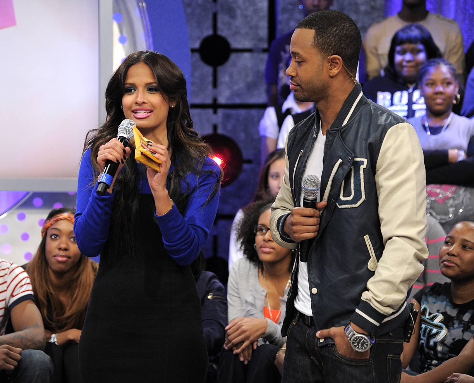 So Good - Rocsi Diaz explains her love of pralines to Terrence J at 106 & Park, January 05, 2012.(Photo: John Ricard/BET)