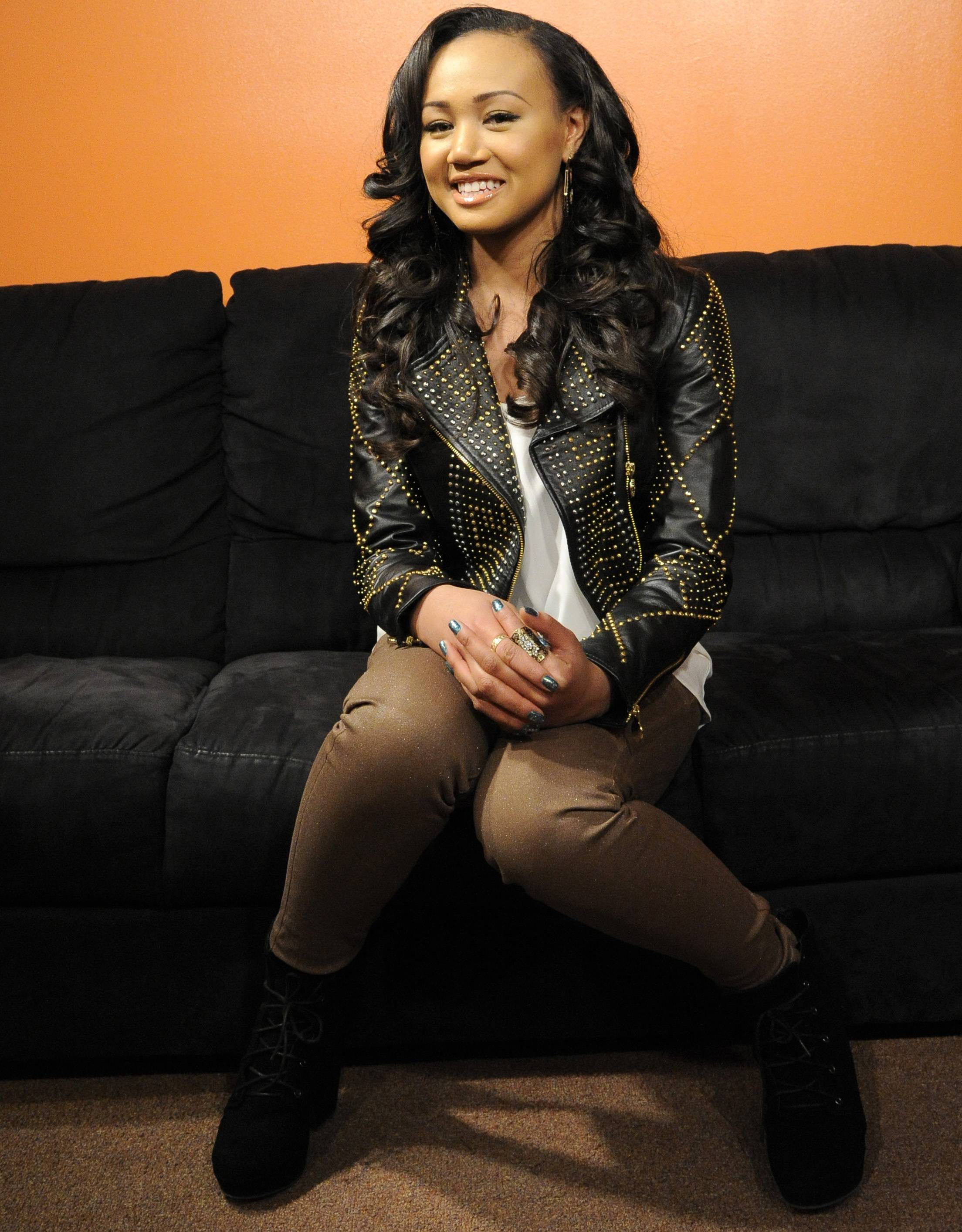 Happy - Cymphonique in the green room at 106 & Park, January 05, 2012.(Photo: John Ricard/BET)