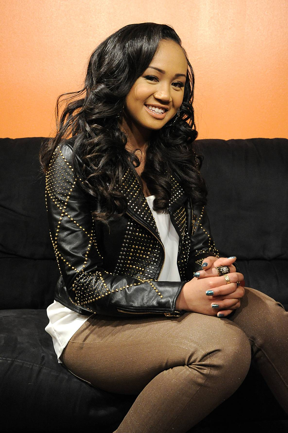 Hey There - Cymphonique Miller in the green room at 106 & Park, January 05, 2012.(Photo: John Ricard/BET)