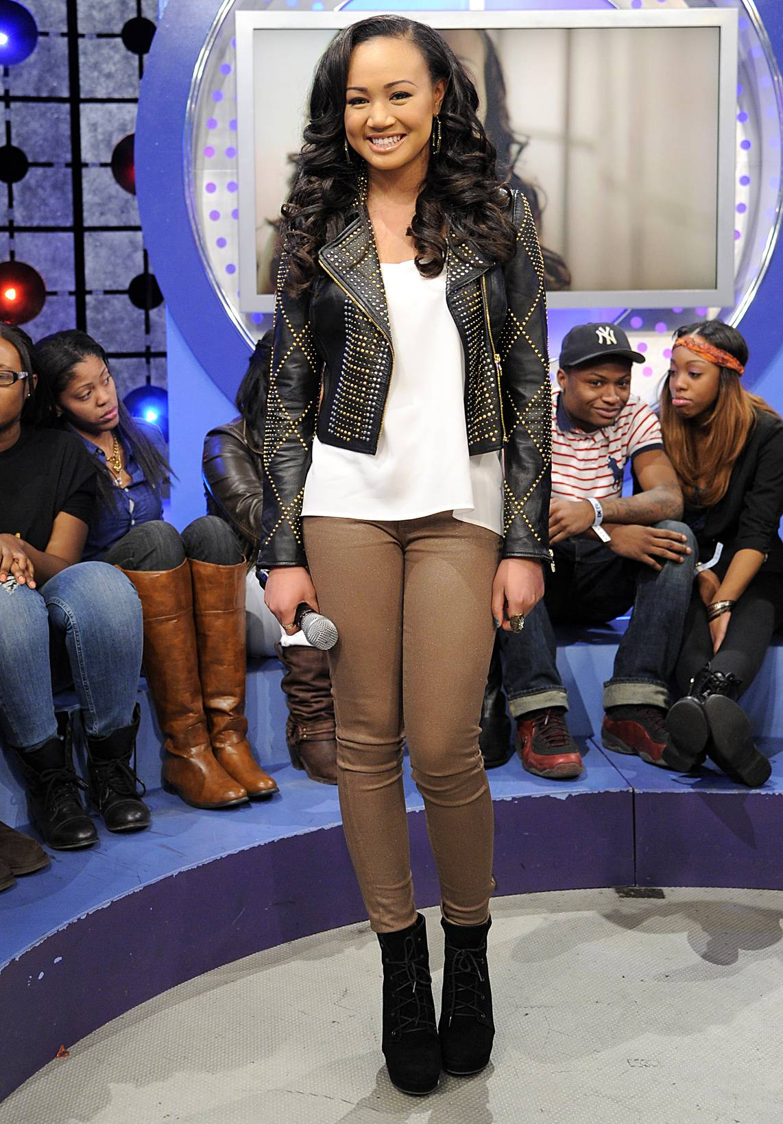 I Like This - Cymphonique Miller at 106 & Park, January 05, 2012. (Photo: John Ricard/BET)