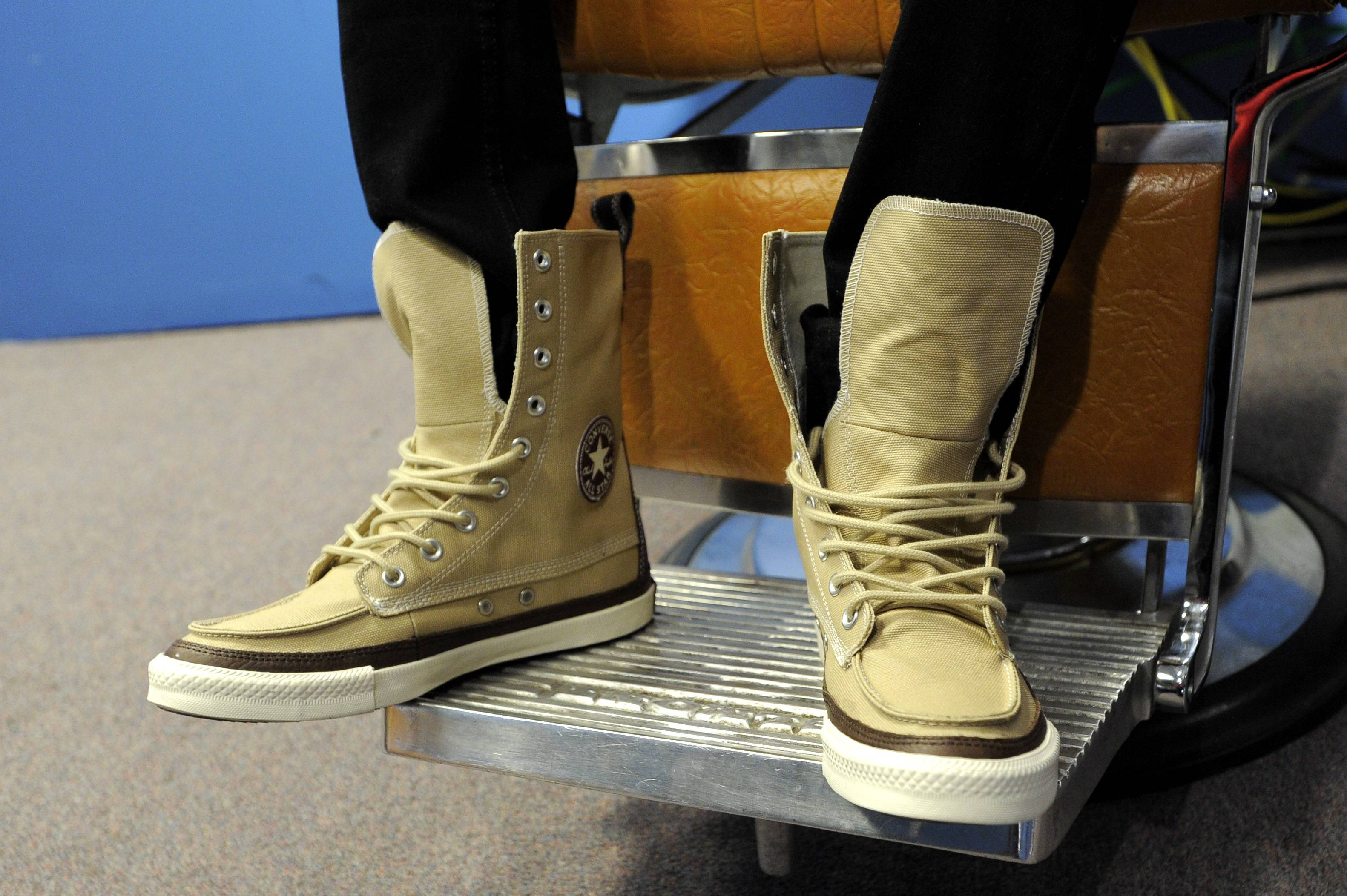 Nice Shoes - Lil Twist in the green room at 106 & Park, January 05, 2012.(Photo: John Ricard/BET)