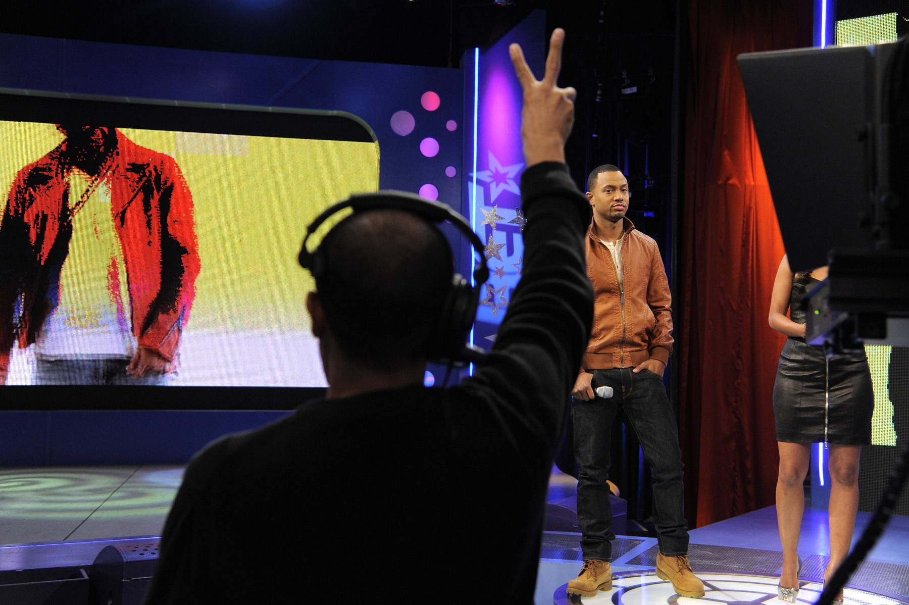 Two Seconds - Countdown for Terrence J at 106 & Park, January 3, 2012. (Photo: John Ricard / BET)