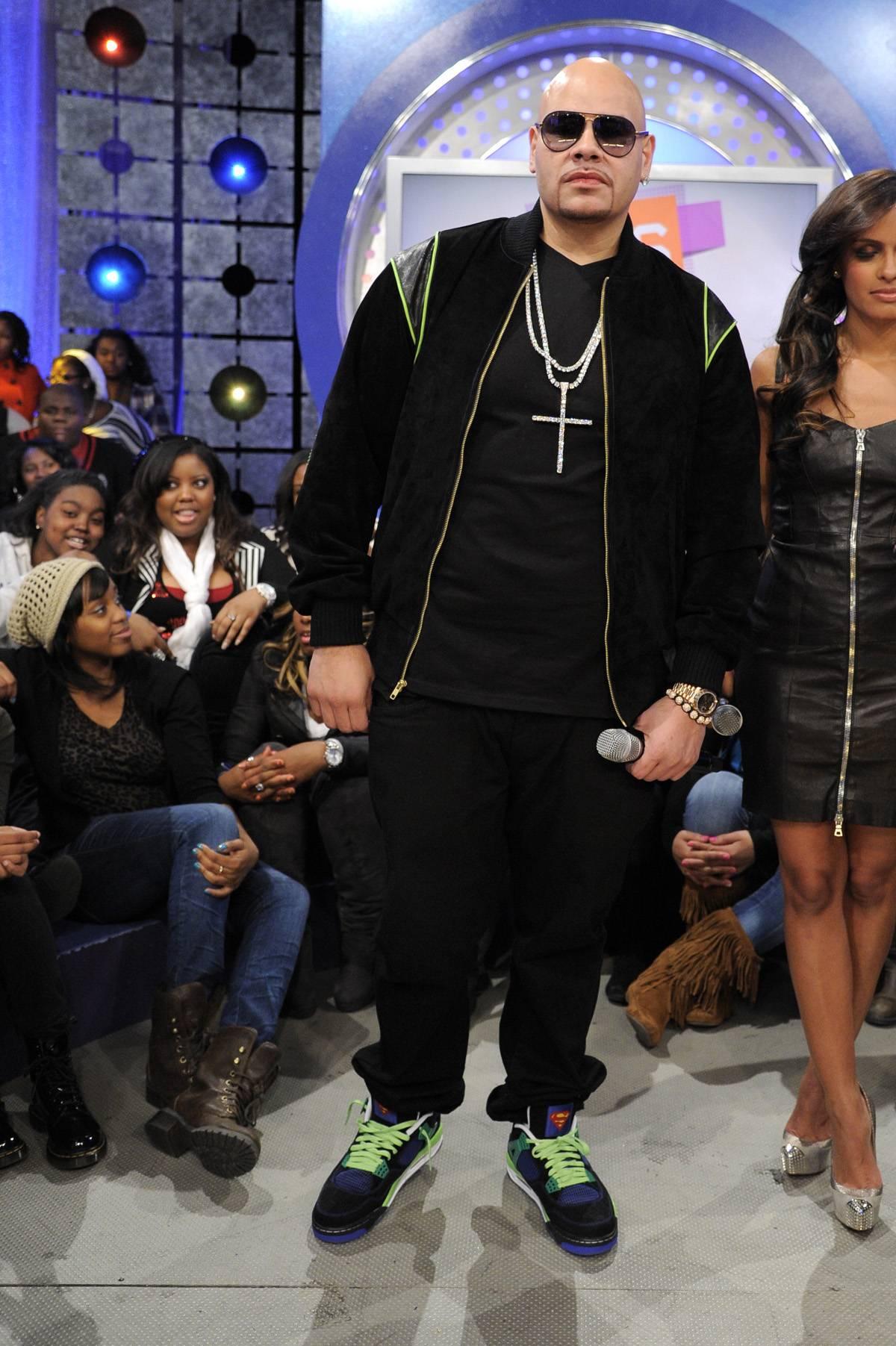 Check Me Now - Fat Joe at 106 & Park, January 3, 2012. (Photo: John Ricard / BET)