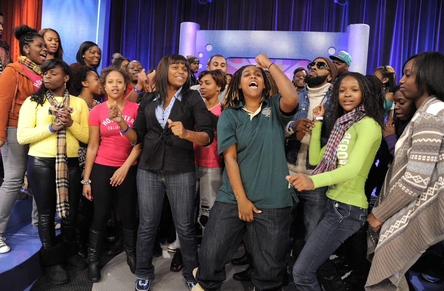 Hey Now - The Livest Audience at 106 & Park, January 3, 2012. (Photo: John Ricard / BET)