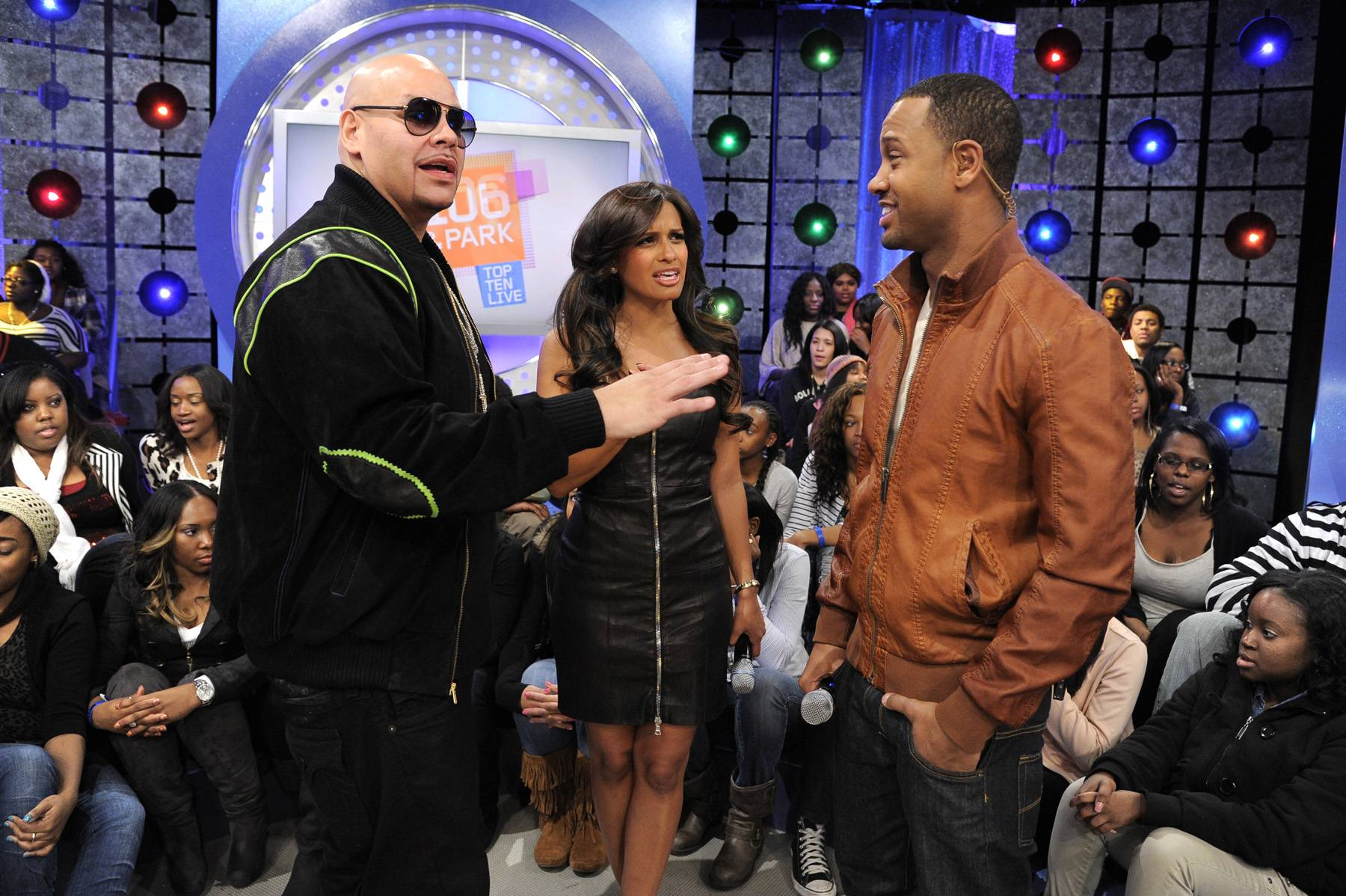 Let's Get It Started - Fat Joe with Rocsi Diaz and Terrence J at 106 & Park, January 3, 2012. (photo: John Ricard / BET)