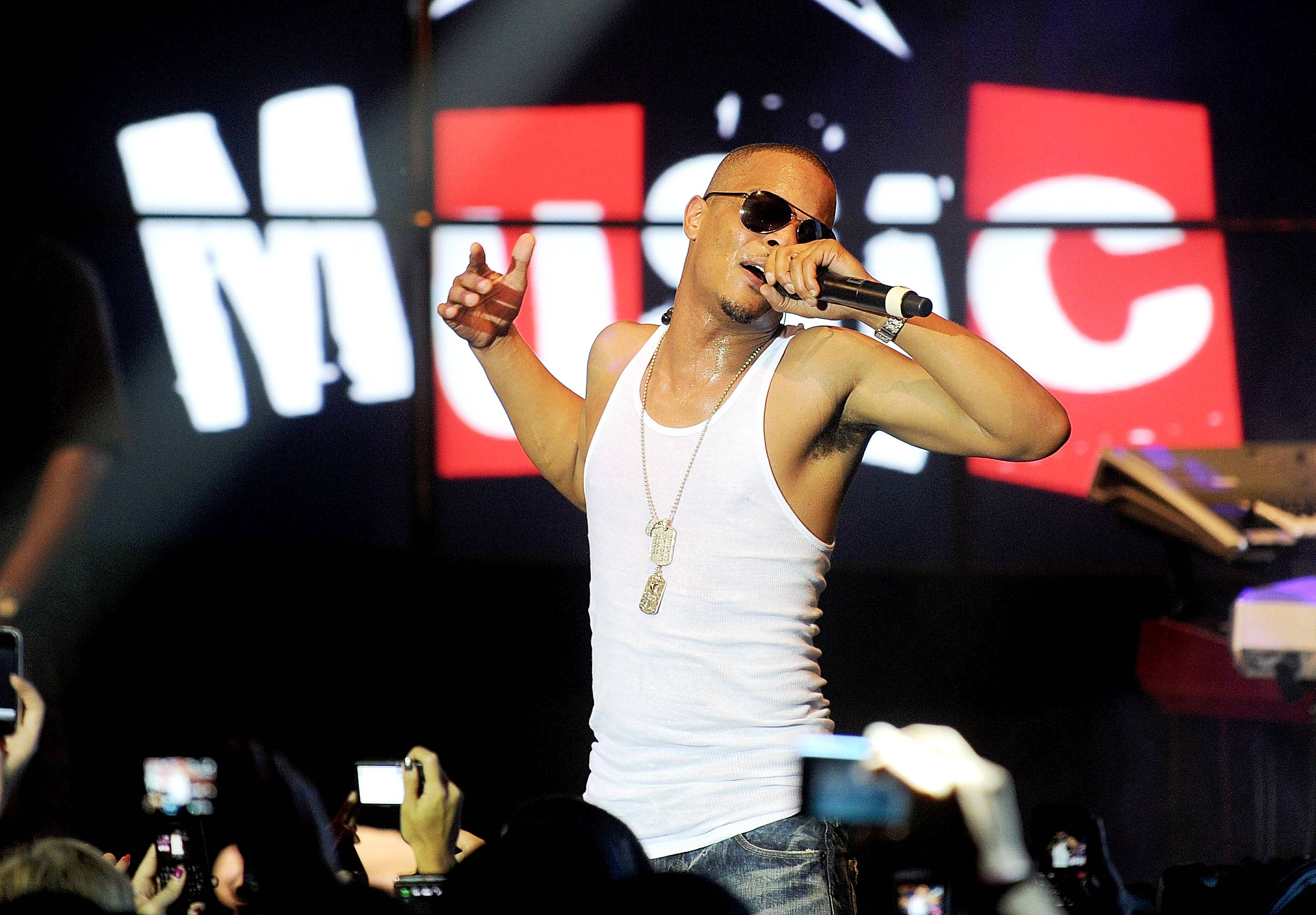 """""""Addresses"""" - T.I. recovers from """"Cruisin'"""" by going to war on """"Addresses."""" He's said in interviews that this song is a diss, though he refused to say who it's addressing. Whoever the target is, best believe they're smarting ? Tip lands some major body blows here.  (Photo: Jamie McCarthy/Getty Images)"""