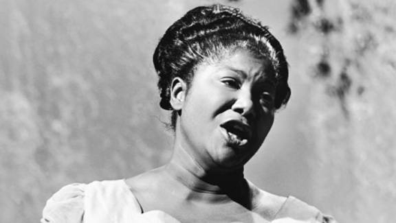 Making History - Mahalia Jackson would not only open the world?s ears to gospel music, she would make history with her music. In 1950, Jackson became the first gospel singer to ever perform at Carnegie Hall in New York. Soon after, she began touring in Europe and signed with Columbia Records in 1954. That same year, she recorded a radio series for CBS. Her mainstream success helped propel the gospel music genre into the spotlight. No one had heard such pure talent solely dedicated to God. In 1961, she sang at President John F. Kennedy?s inaugural ball.(Photo: Courtesy The DuSable Museum of African American History)