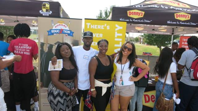 Kicking It at the Denny's Tent - (Photo: BET)