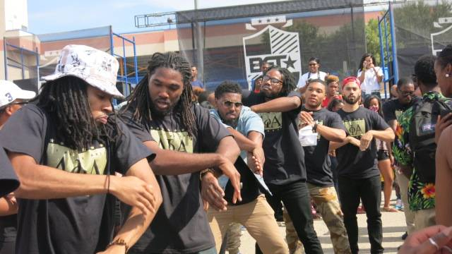 Members of Alpha Phi Alpha on the Stroll - (Photo: BET)