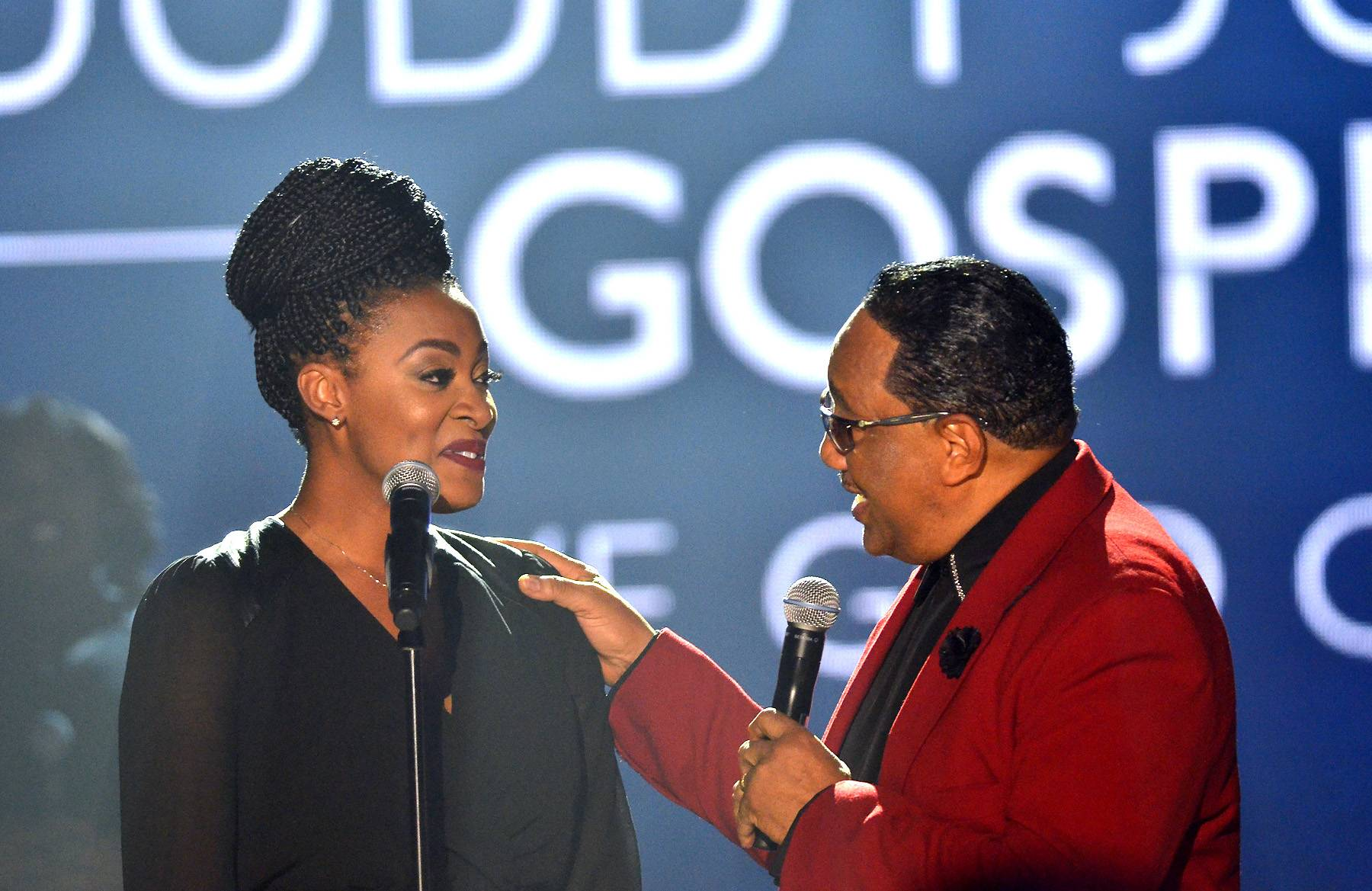 Jessica Reedy and Dr. Bobby Jones - Bobby Jones speaks with Jessica Reedy,runner up of Sunday Best Season 2. Reedy is due to release her sophomore CD very soon! She participated in the taping of BET's Bobby Jones Gospel at BET Studios on August 1, 2014, in Washington, D.C.(Photo: Kris Connor/Getty Images for BET Networks)