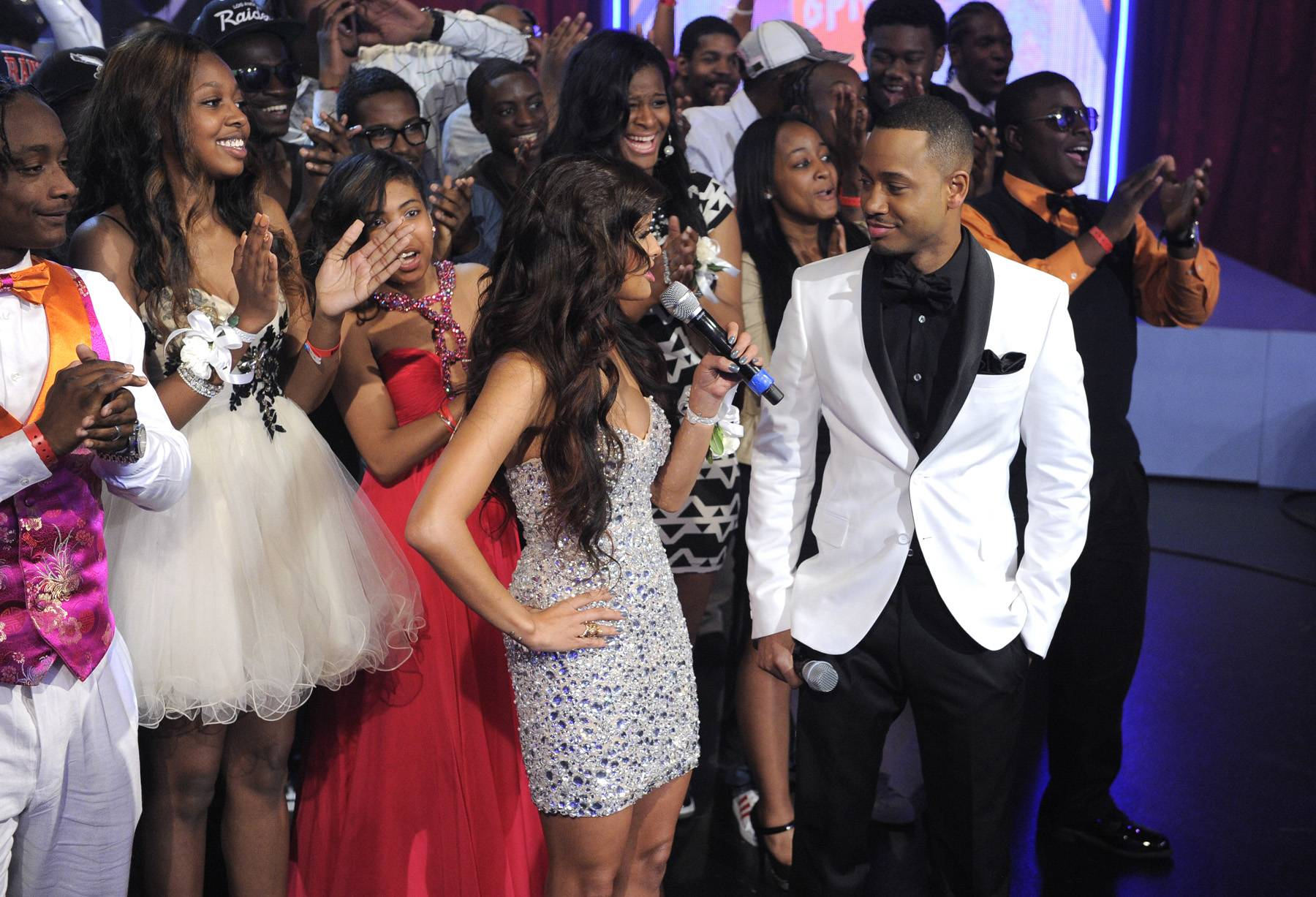 Hey You! - Rocsi Diaz and Terrence J hosts a Prom Special for the Class of 2012 at 106 & Park, May 25, 2012. (Photo: John Ricard / BET)