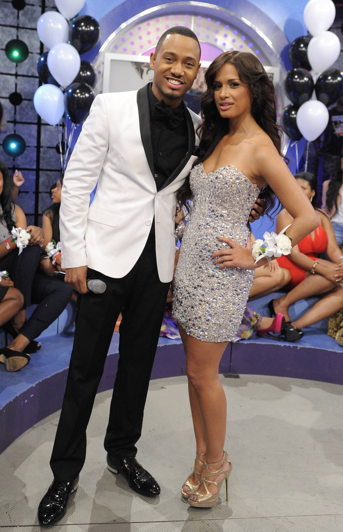 Prom Night Feature - Terrence J and Rocsi Diaz brings the prom on todays show at 106 & Park, May 25, 2012. (Photo: John Ricard / BET)