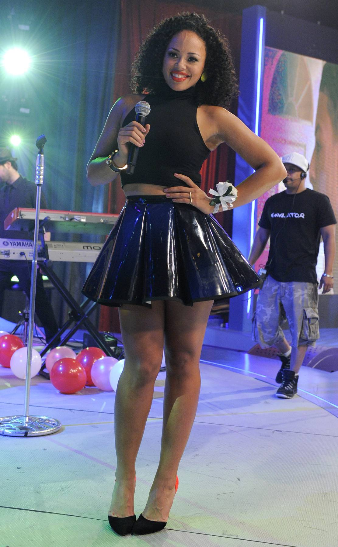 Cute For the Performance - Elle Varner performs at 106 & Park, May 25, 2012. (Photo: John Ricard / BET)
