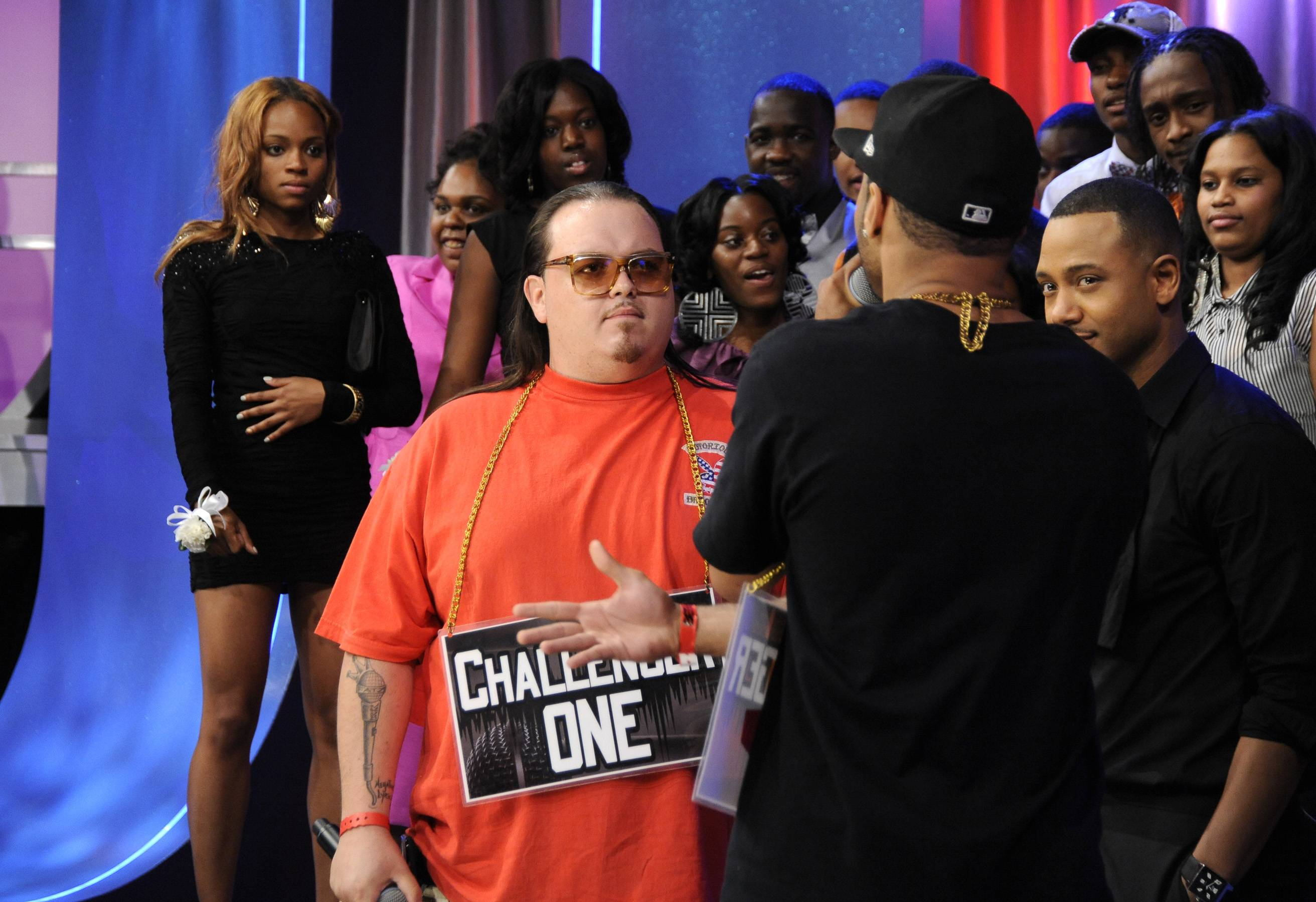 Go For It - Freestyle Friday contestants Interstate Fatz and Jayo the Beatslayer at 106 & Park, May 25, 2012. (Photo: John Ricard / BET)