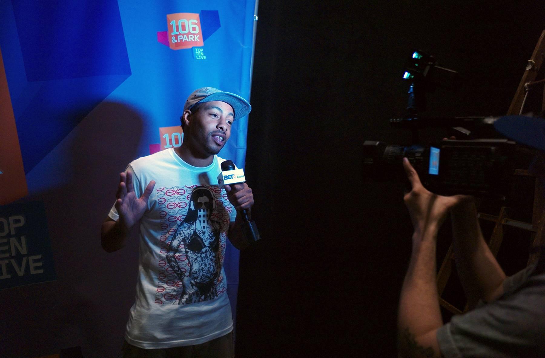 Holla At Me - BET.com talks to Brigante at 106 & Park, May 25, 2012. (Photo: John Ricard / BET)