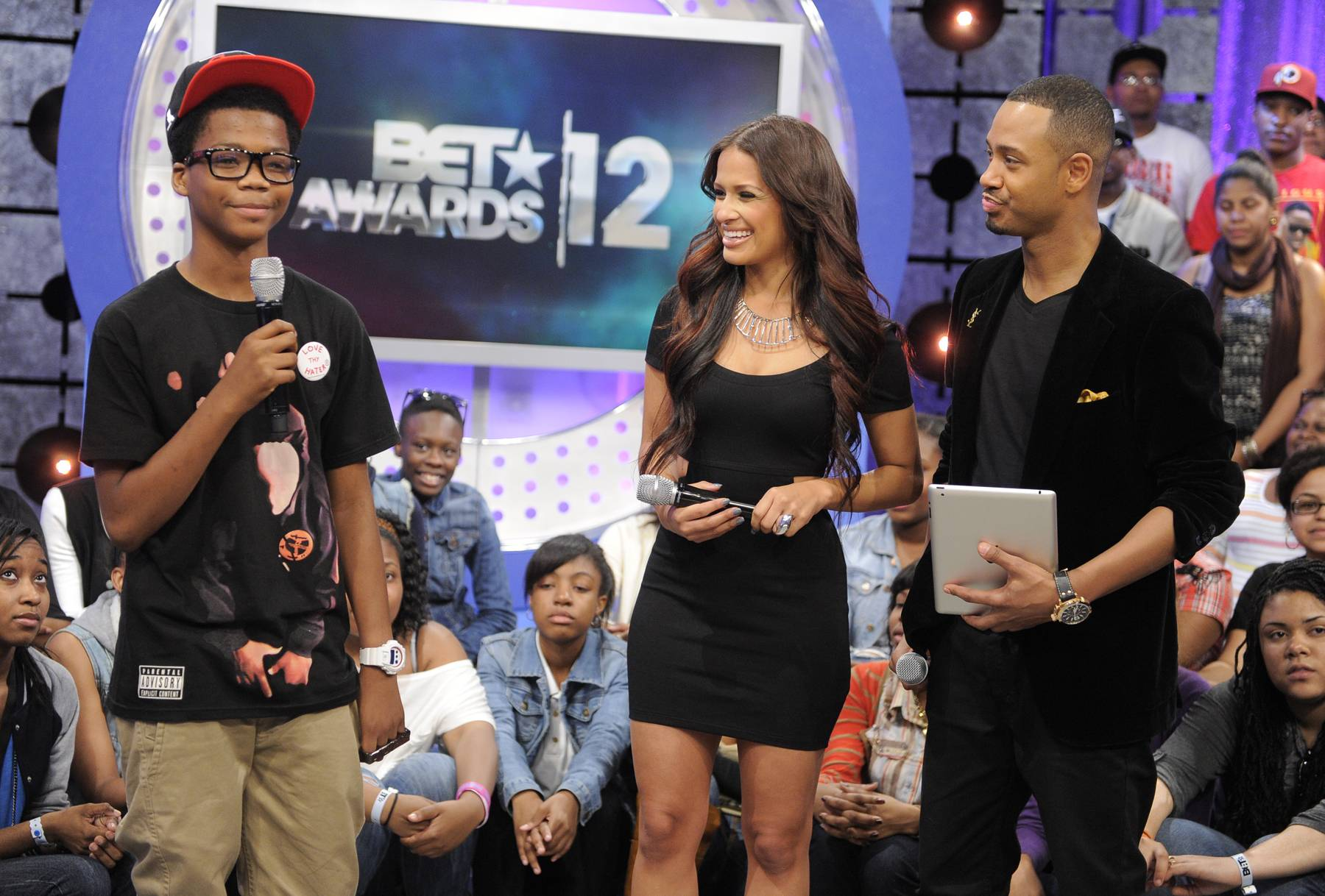 Astro - Astro with Rocsi Diaz and Terrence J at106 & Park, May 22, 2012.  (Photo: John Ricard / BET)