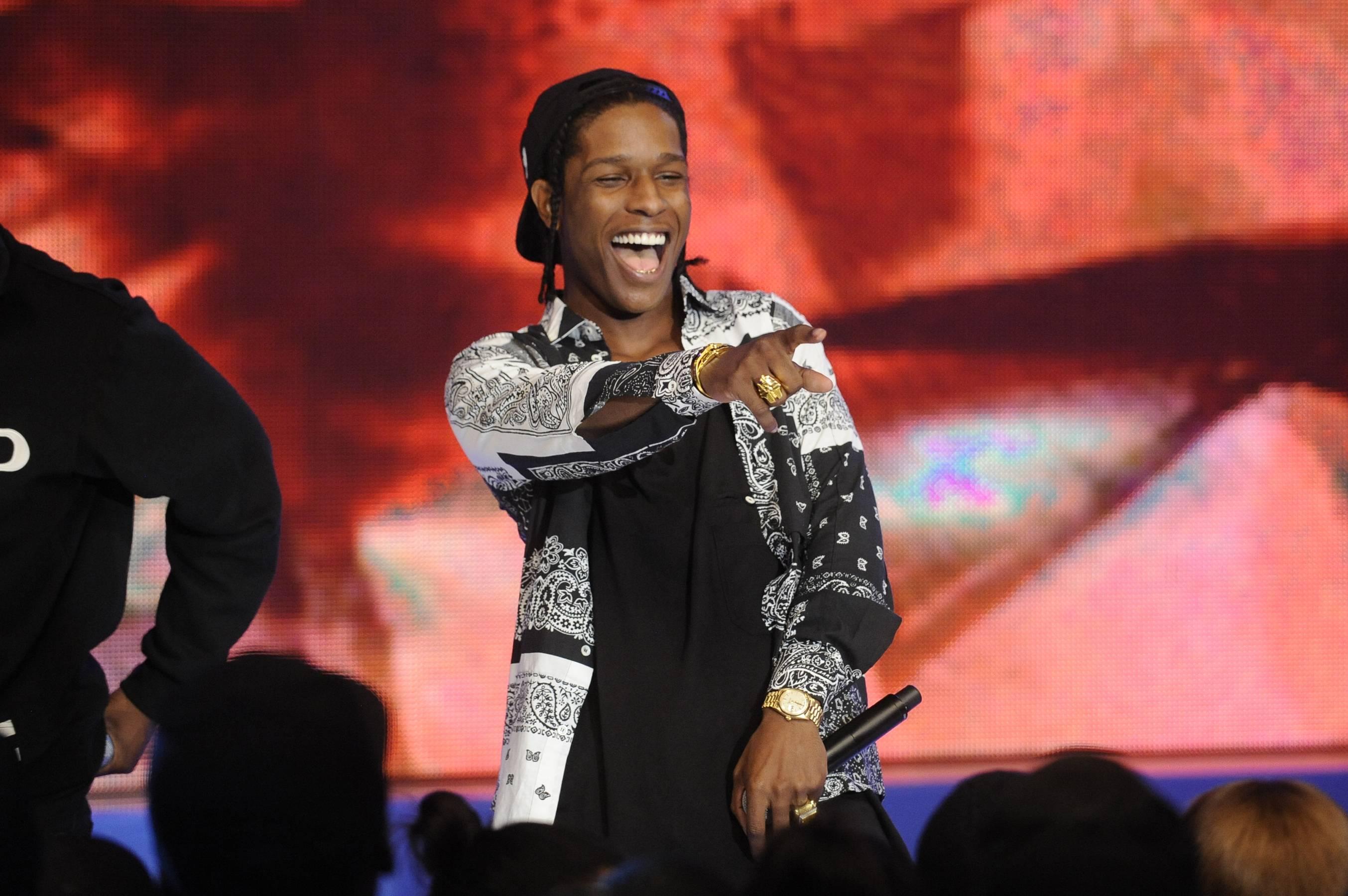 """A$AP Performing """"Pe$o"""" - A$AP Rocky performs """"Peso"""" at 106 & Park, May 22, 2012. (Photo: John Ricard / BET)"""