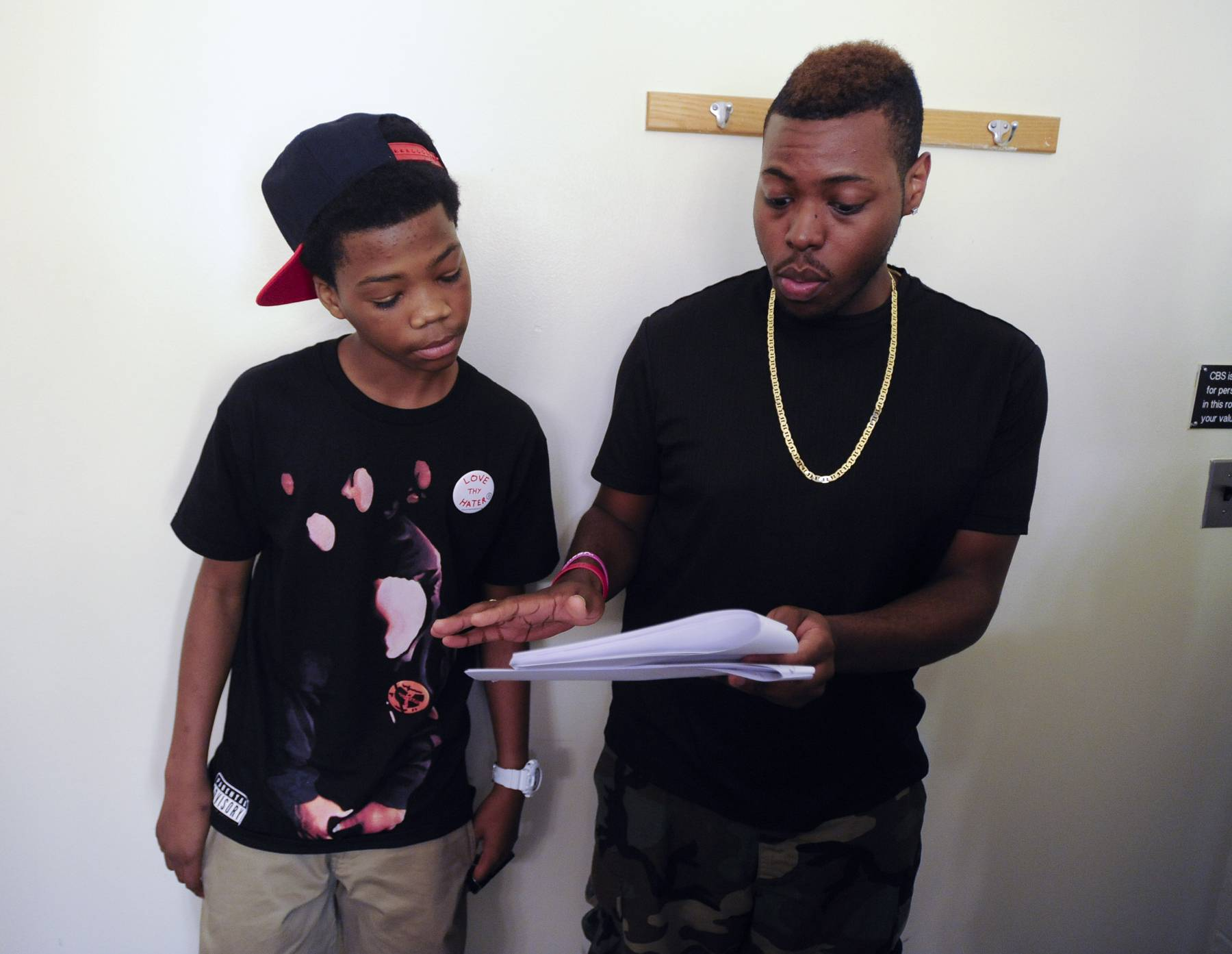 Astro Getting Ready - Production meeting for Astro in the green room at 106 & Park, May 22, 2012. (Photo: John Ricard / BET)
