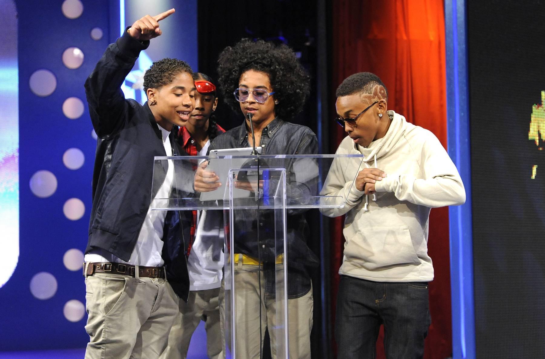 Teamwork Makes the Dream Work - Mindless Behavior at 106 & Park, May 22, 2012. (Photo: John Ricard / BET)