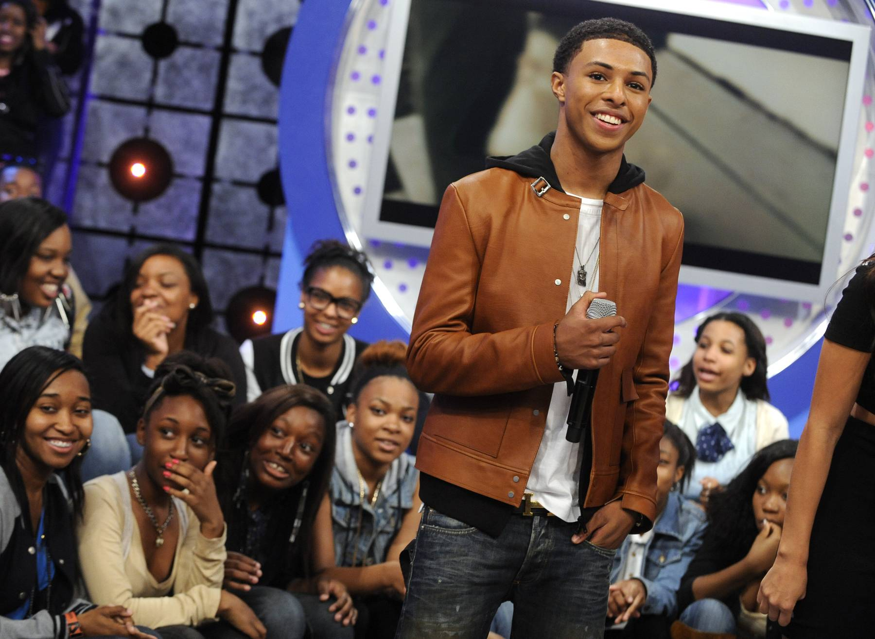 Diggy Does It for the Fans - Diggy Simmons at 106 & Park, May 22, 2012. (Photo: John Ricard / BET)