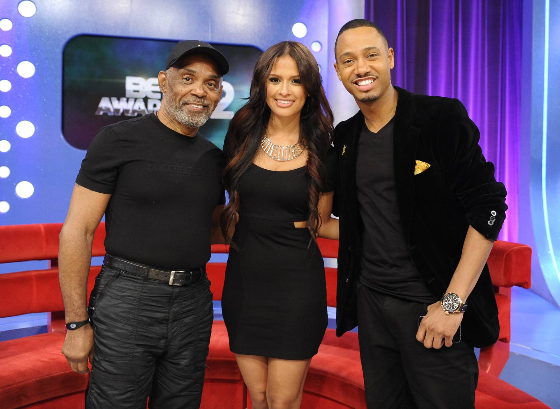 Classic - Frankie Beverly with Rocsi Diaz and Terrence J at 106 & Park, May 22, 2012. (Photo: John Ricard / BET)