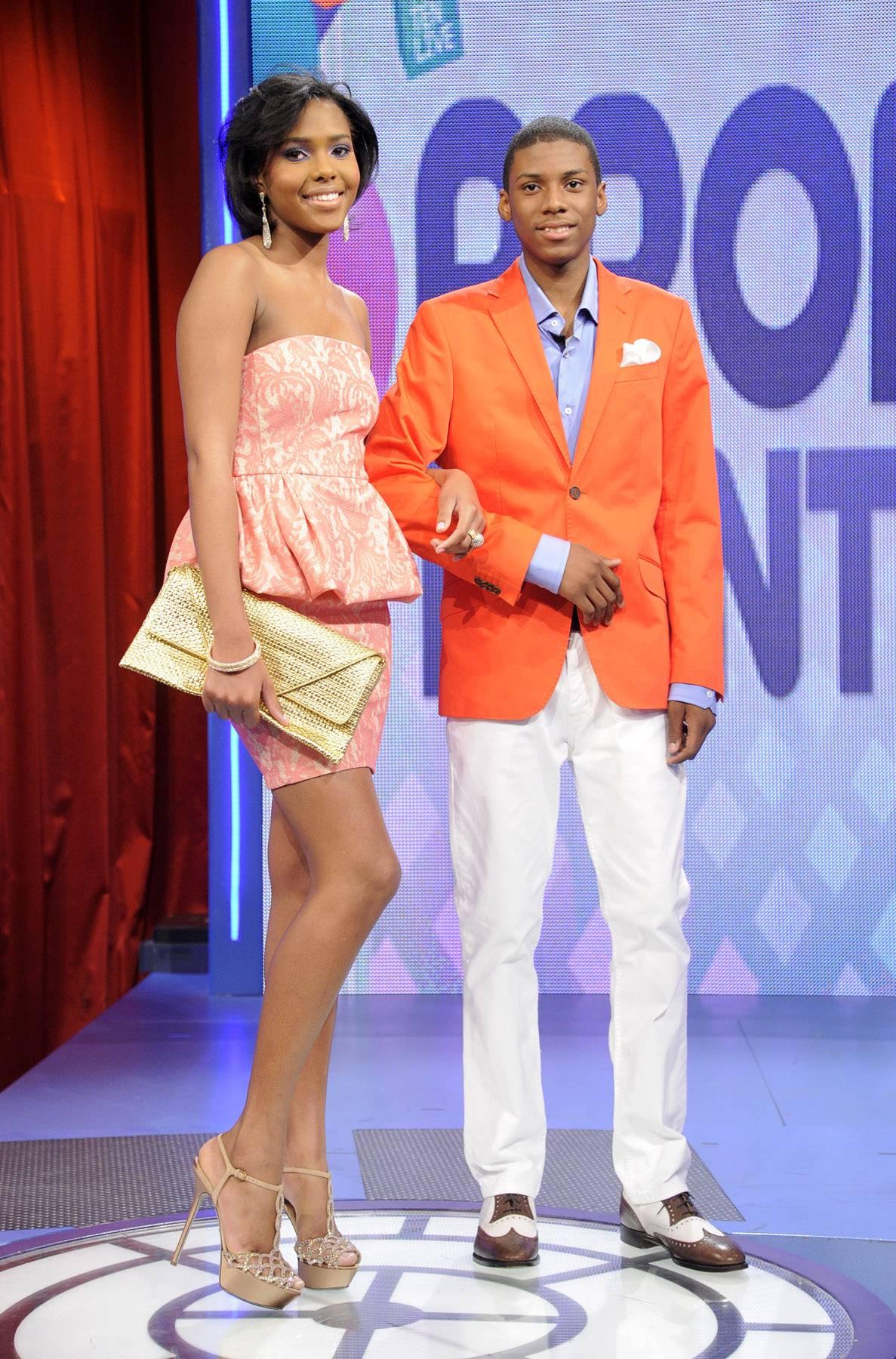 Boy and girl - Prom Night fashion show at 106 & Park, May 16, 2012. (Photo: John Ricard / BET)