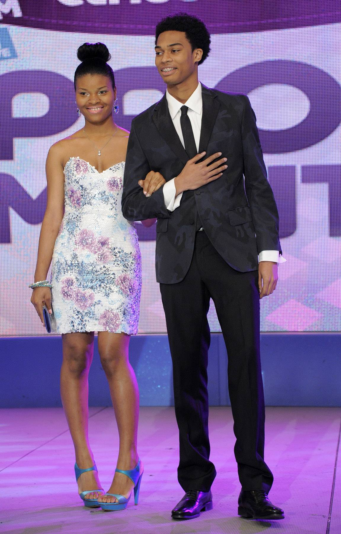 Nice dress - Prom Night fashion show at 106 & Park, May 16, 2012. (Photo: John Ricard / BET)