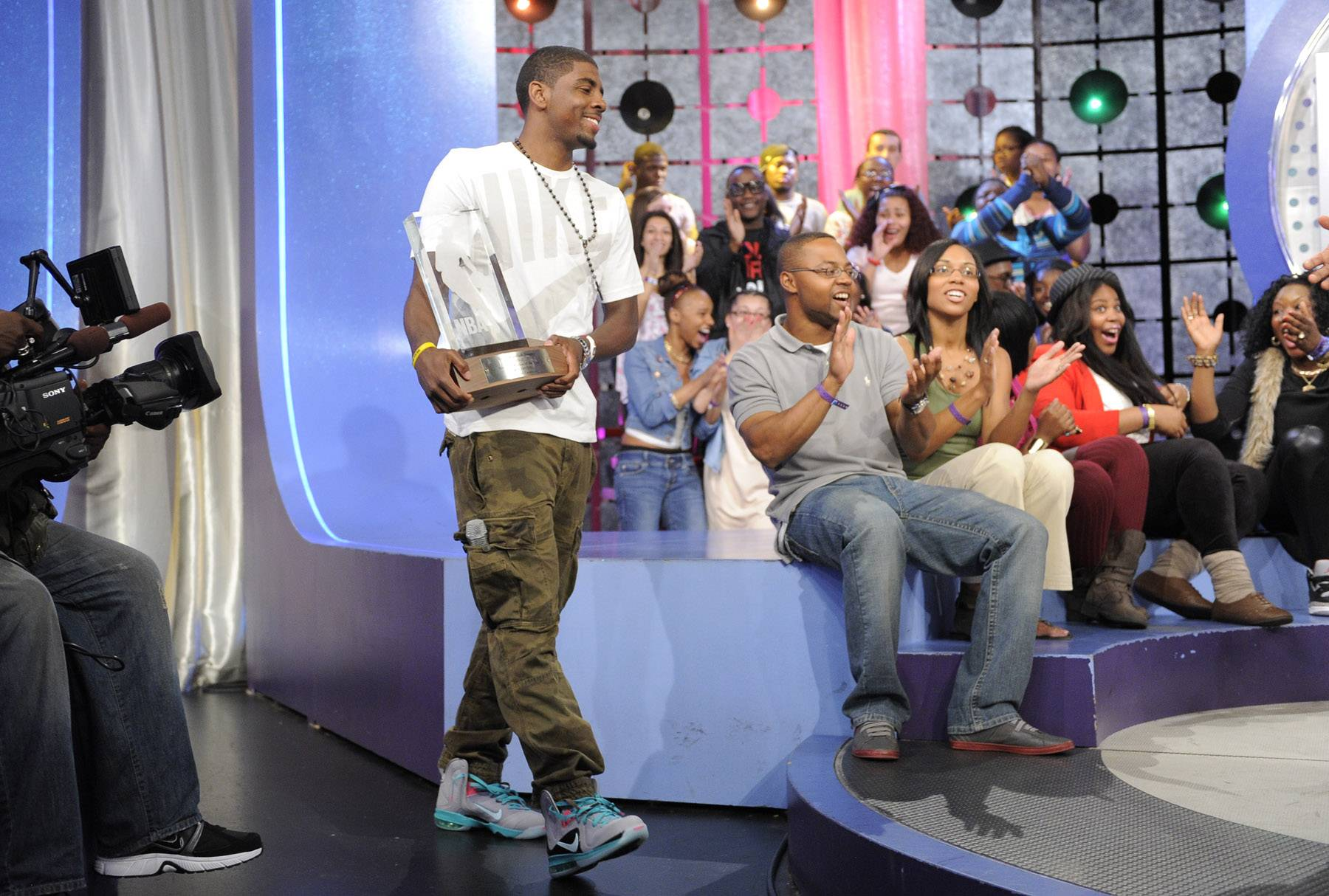 Bawling.. - Kyrie Irving of the Clevaland Cavaliers at 106 & Park, May 16, 2012. (Photo: John Ricard / BET)