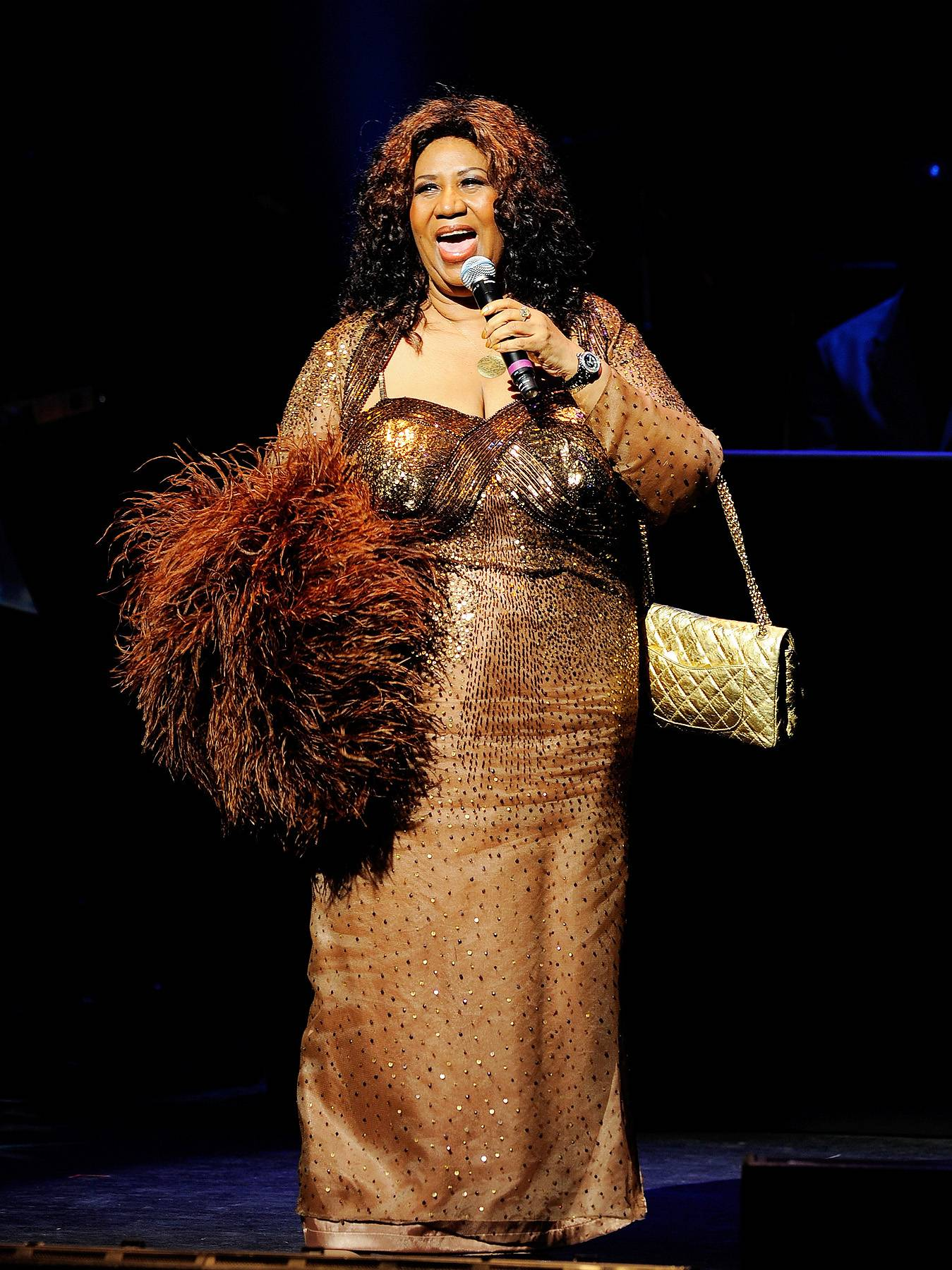 """Aretha Franklin - Aretha Franklin is the """"Queen of Soul"""" and has graced the Apollo stage with her presence, performance and amazing vocals over the years. It's only right, she's a legend!(Photo: Jemal Countess/Getty Images)"""