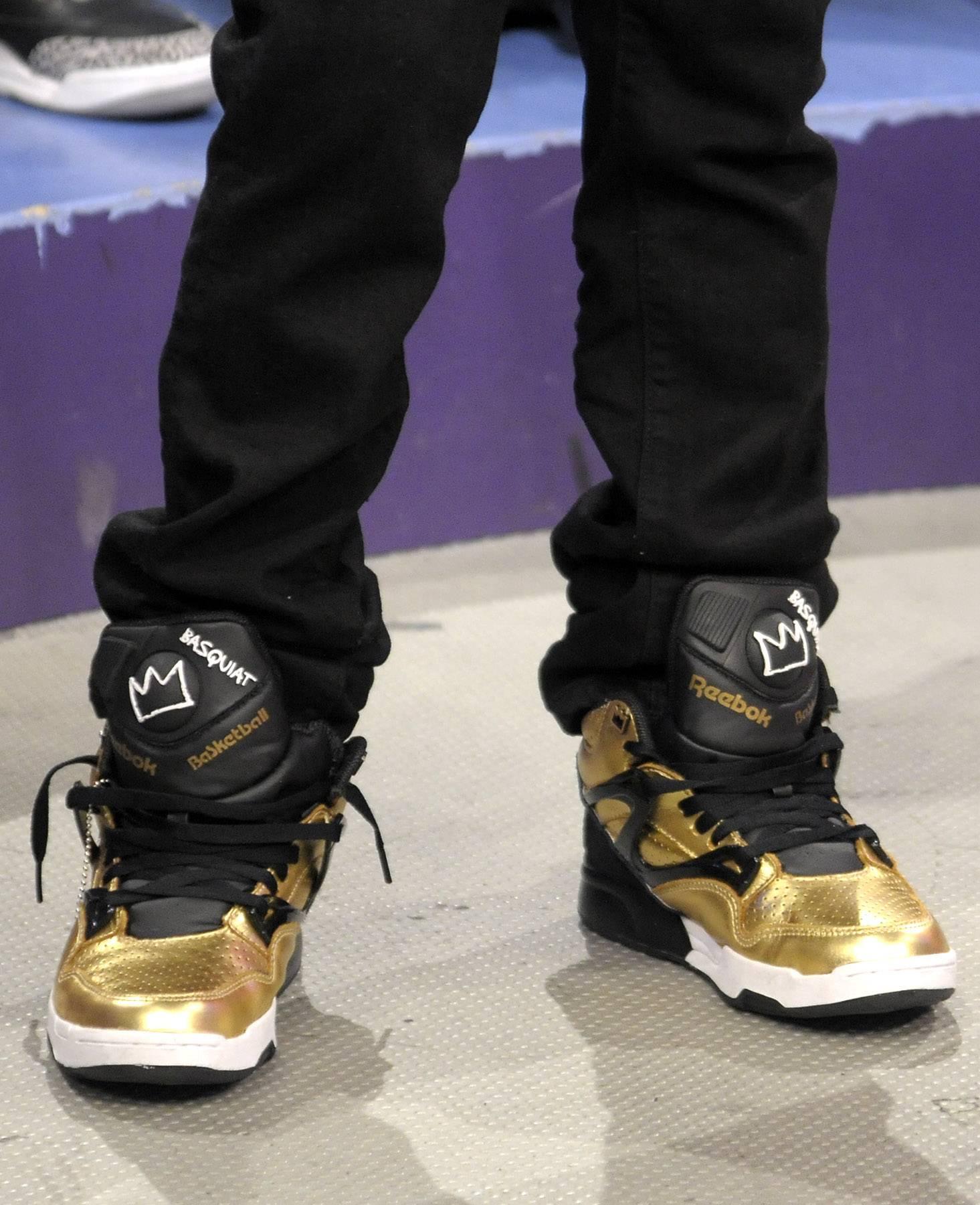 Reebok shoes - Lil Niqo at 106 & Park, May 16, 2012. (Photo: John Ricard / BET)