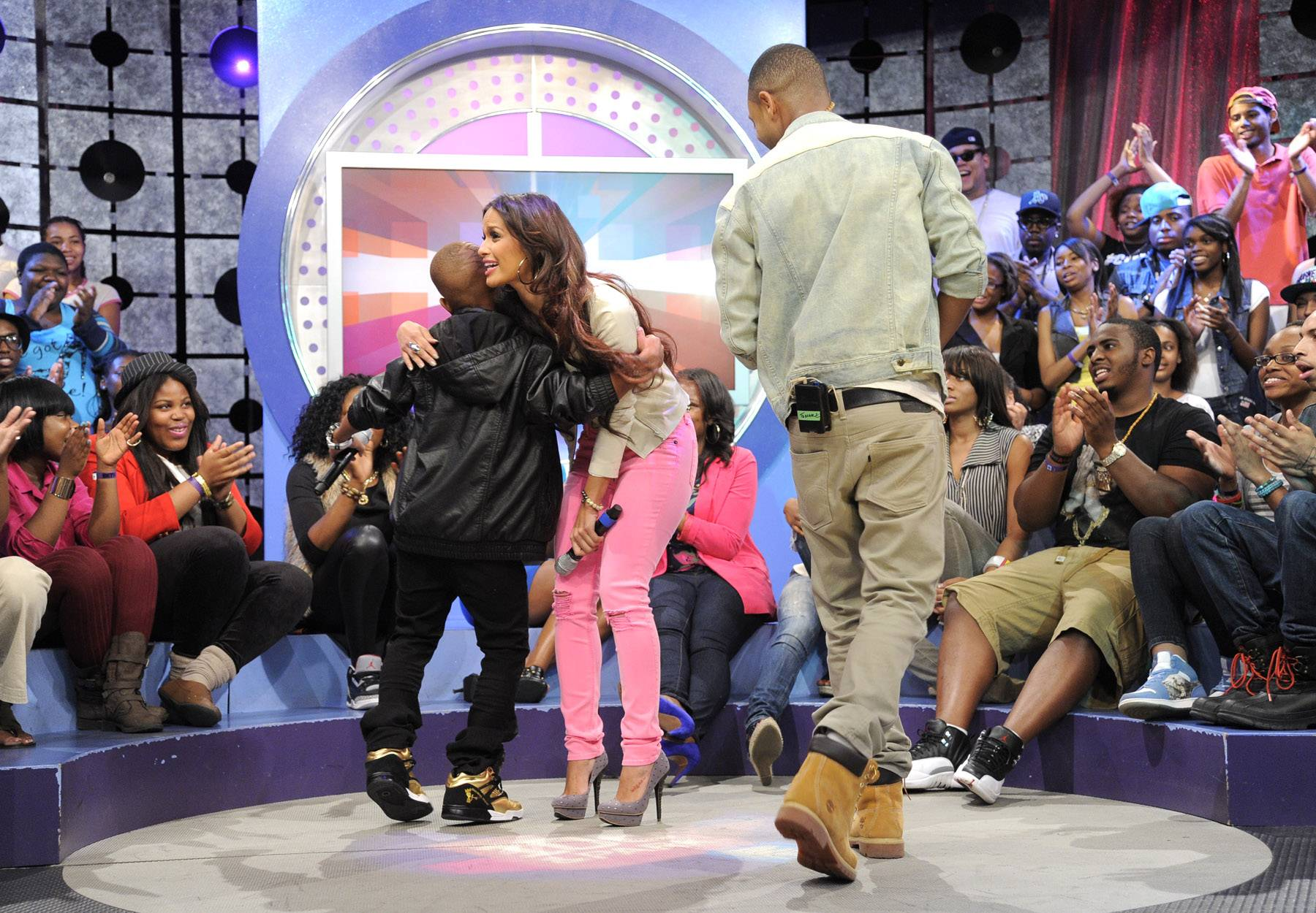 Hey rocsi... - Lil Niqo takes the stage at 106 & Park, May 16, 2012. (Photo: John Ricard / BET)