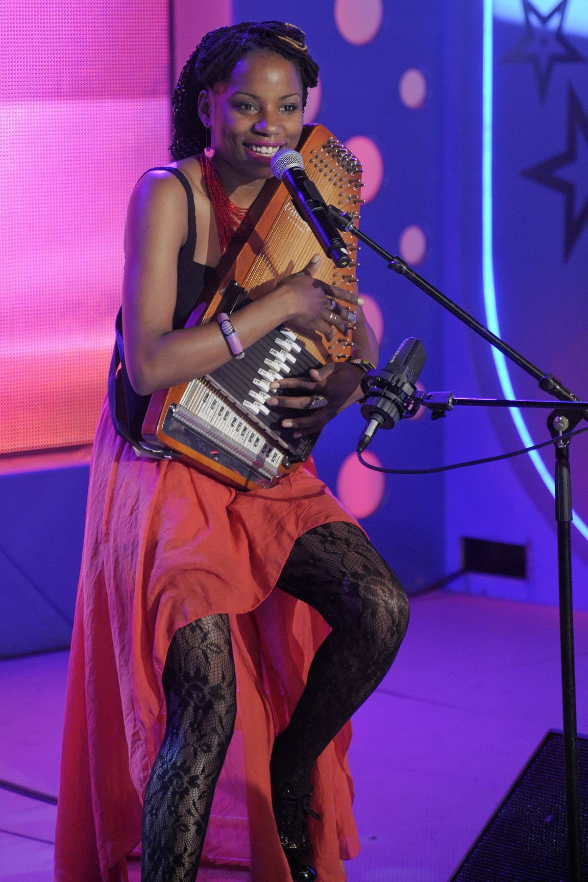 """She performs well - Lady Moon performs """"The Secret"""" at 106 & Park, May 16, 2012. (Photo: John Ricard / BET)"""