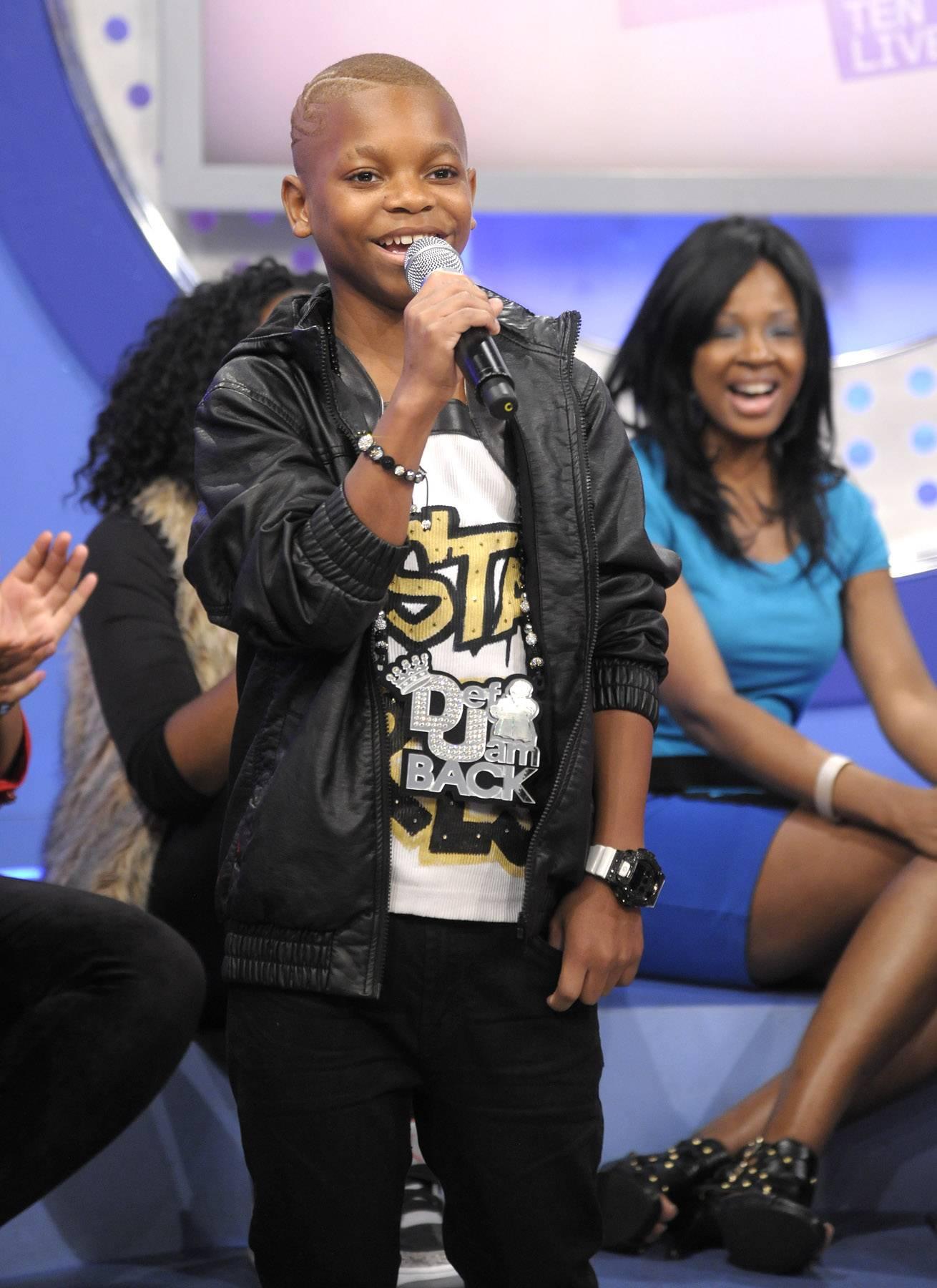 Niqo on the mic - Lil Niqo at 106 & Park, May 16, 2012. (Photo: John Ricard / BET)