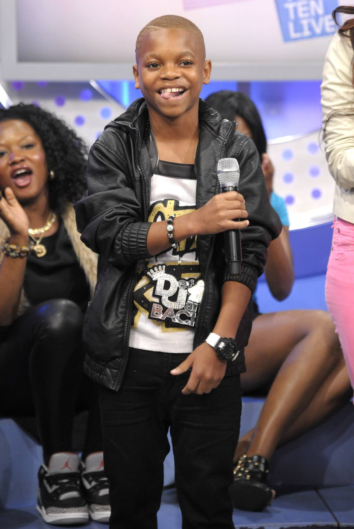 Lil niqo smiling. - Lil Niqo at 106 & Park, May 16, 2012. (Photo: John Ricard / BET)