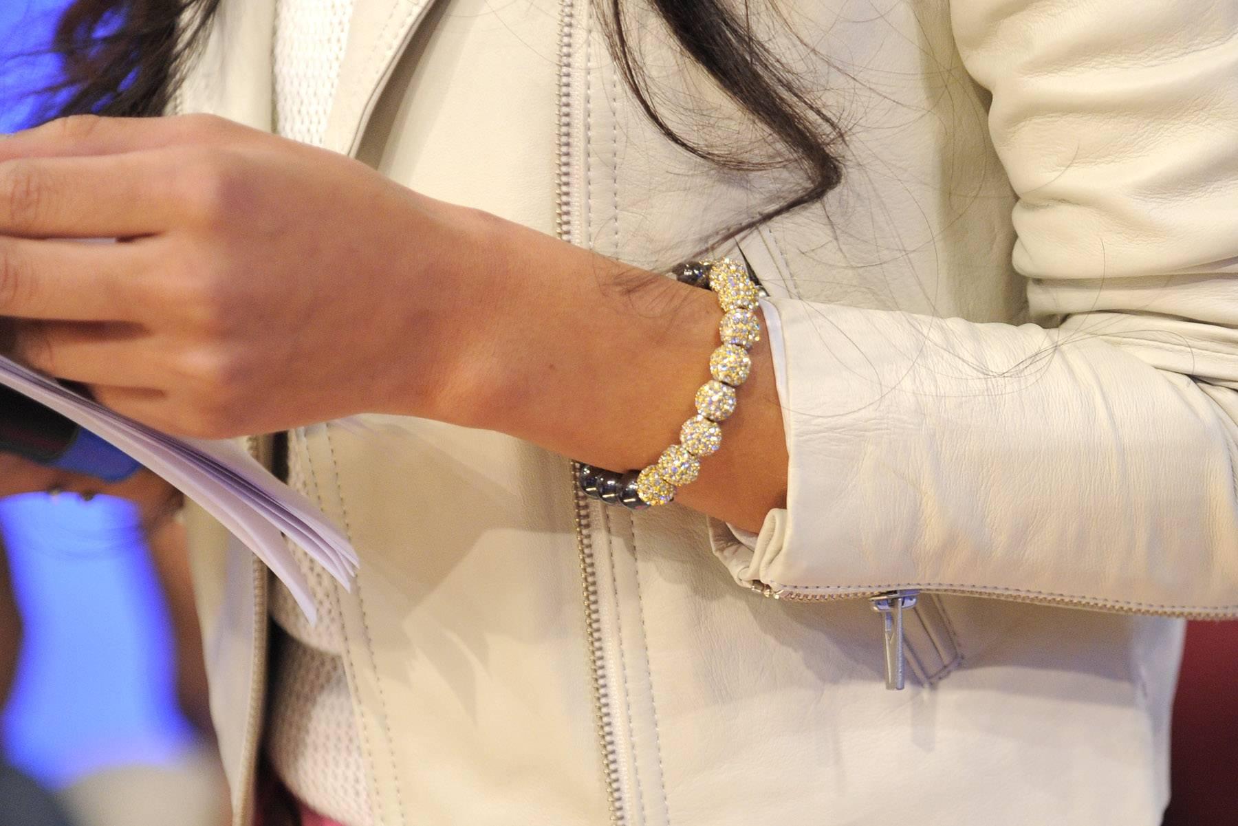 Rocsi's bracelet. - Rocsi Diaz at 106 & Park, May 16, 2012. (Photo: John Ricard / BET)