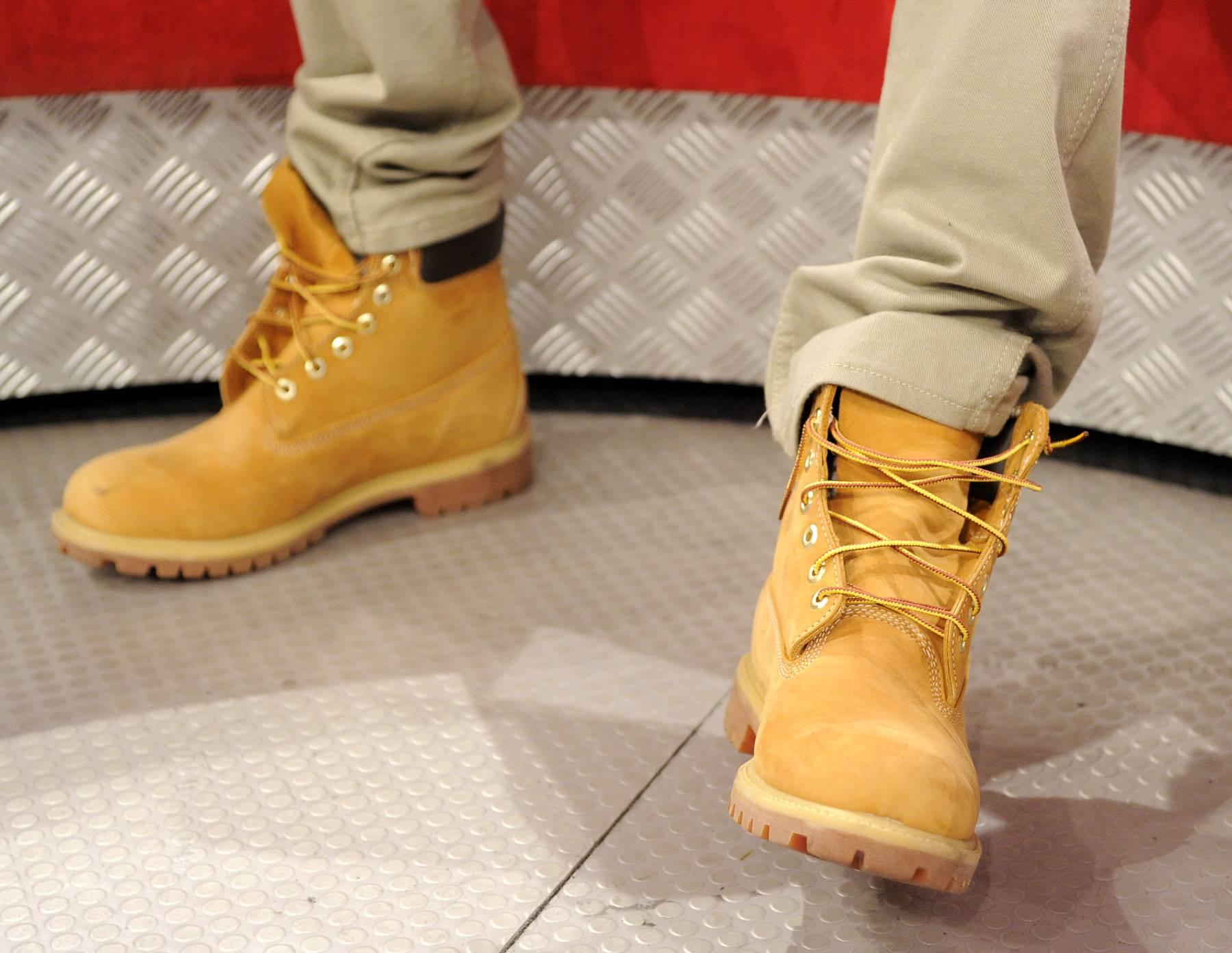 My boots - Terrence J at 106 & Park, May 16, 2012. (Photo: John Ricard / BET)